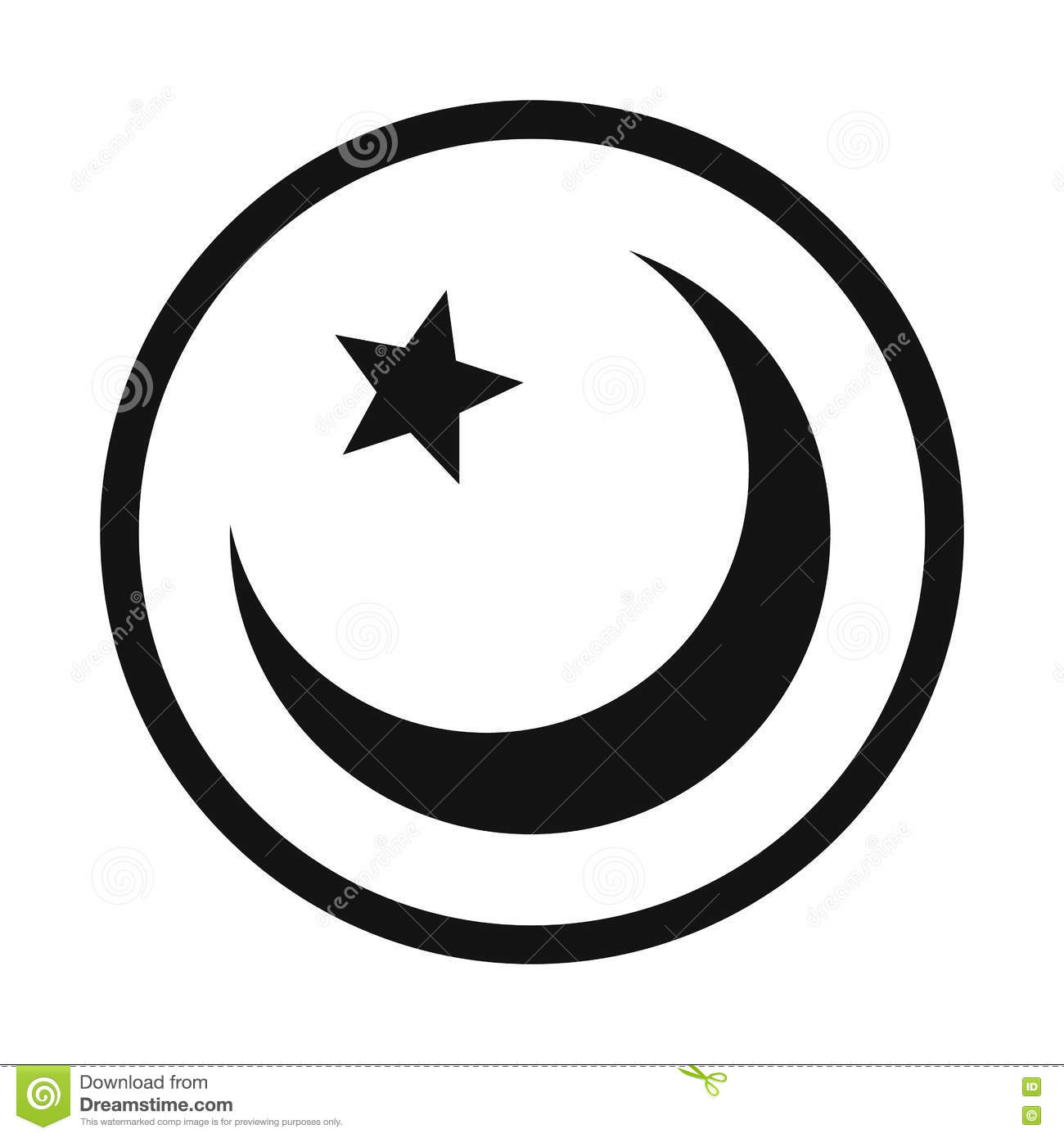 Islam Symbol Simple Icon Stock Vector Illustration Of Round 79850397