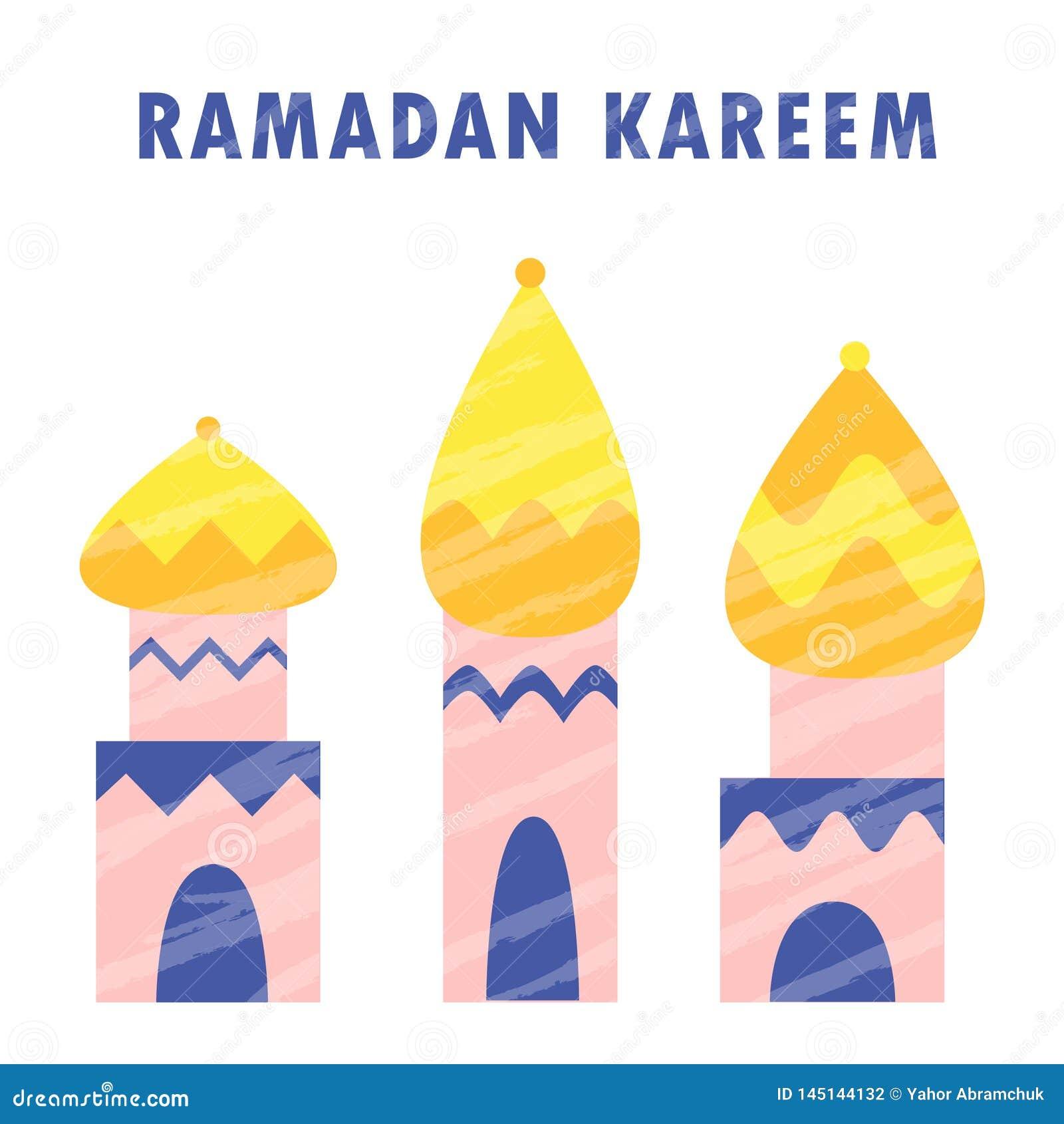 Islam van de Ramadan kareem moskee moslimgodsdienst Arabische viering Mubarak