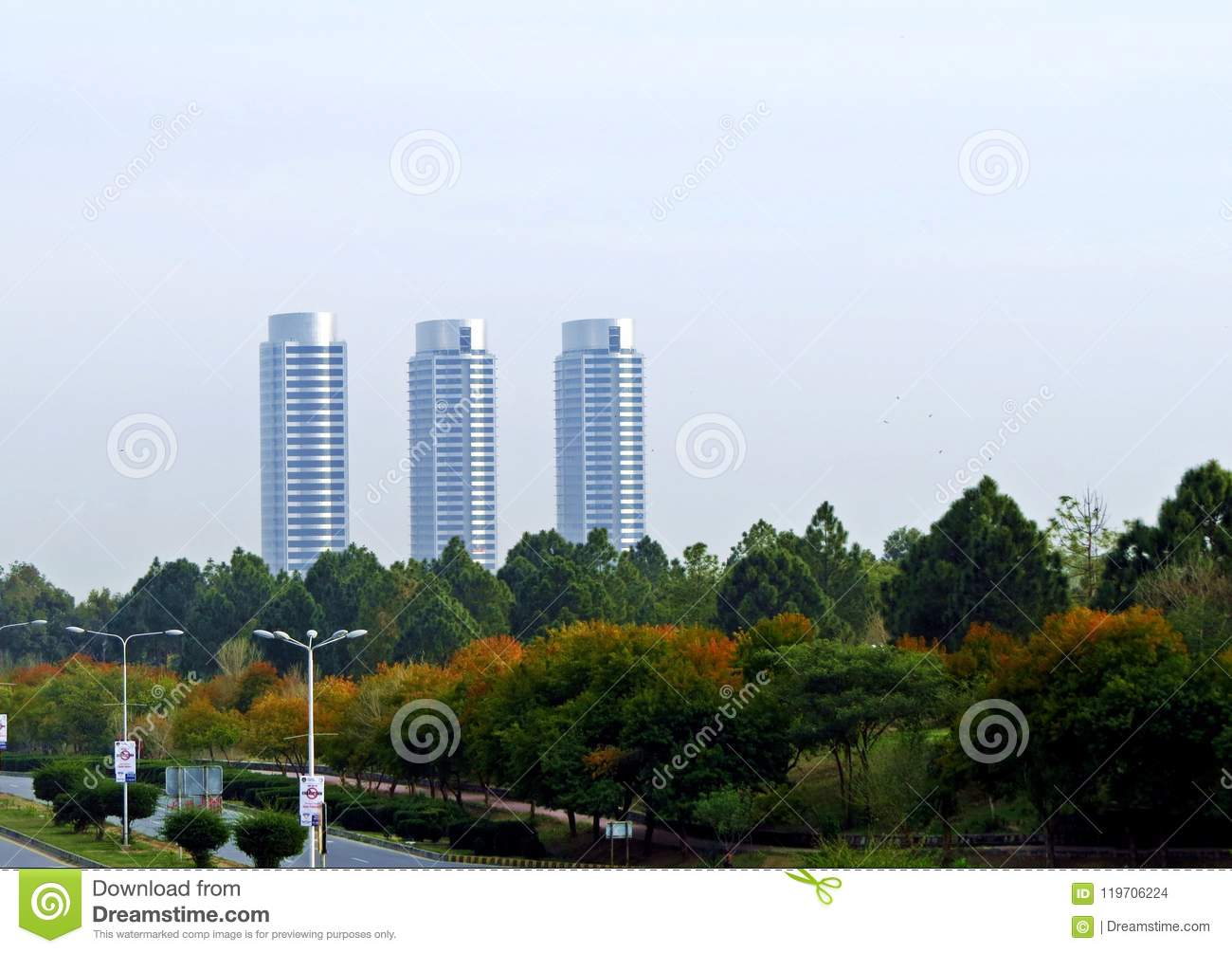 View Of Mall In Islamabad, Capital Of Pakistan Stock Photo