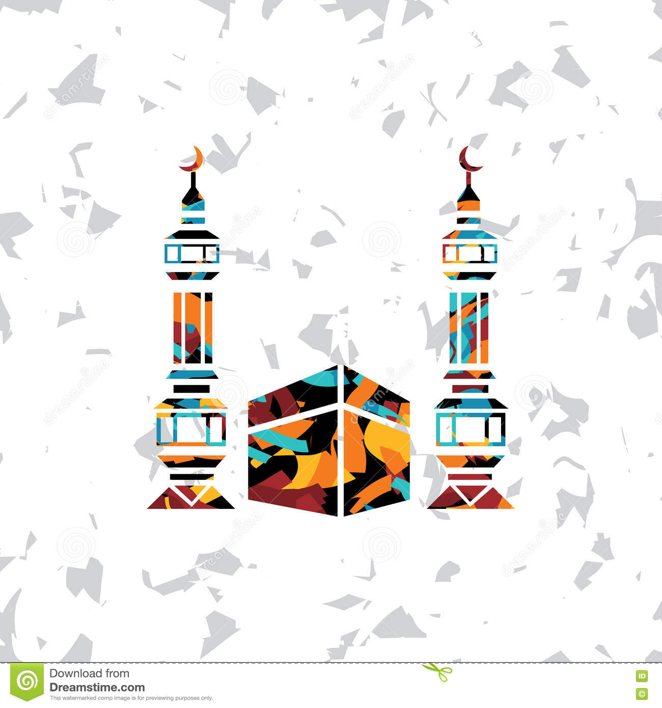 Islamic Abstract Calligraphy Art Stock Vector