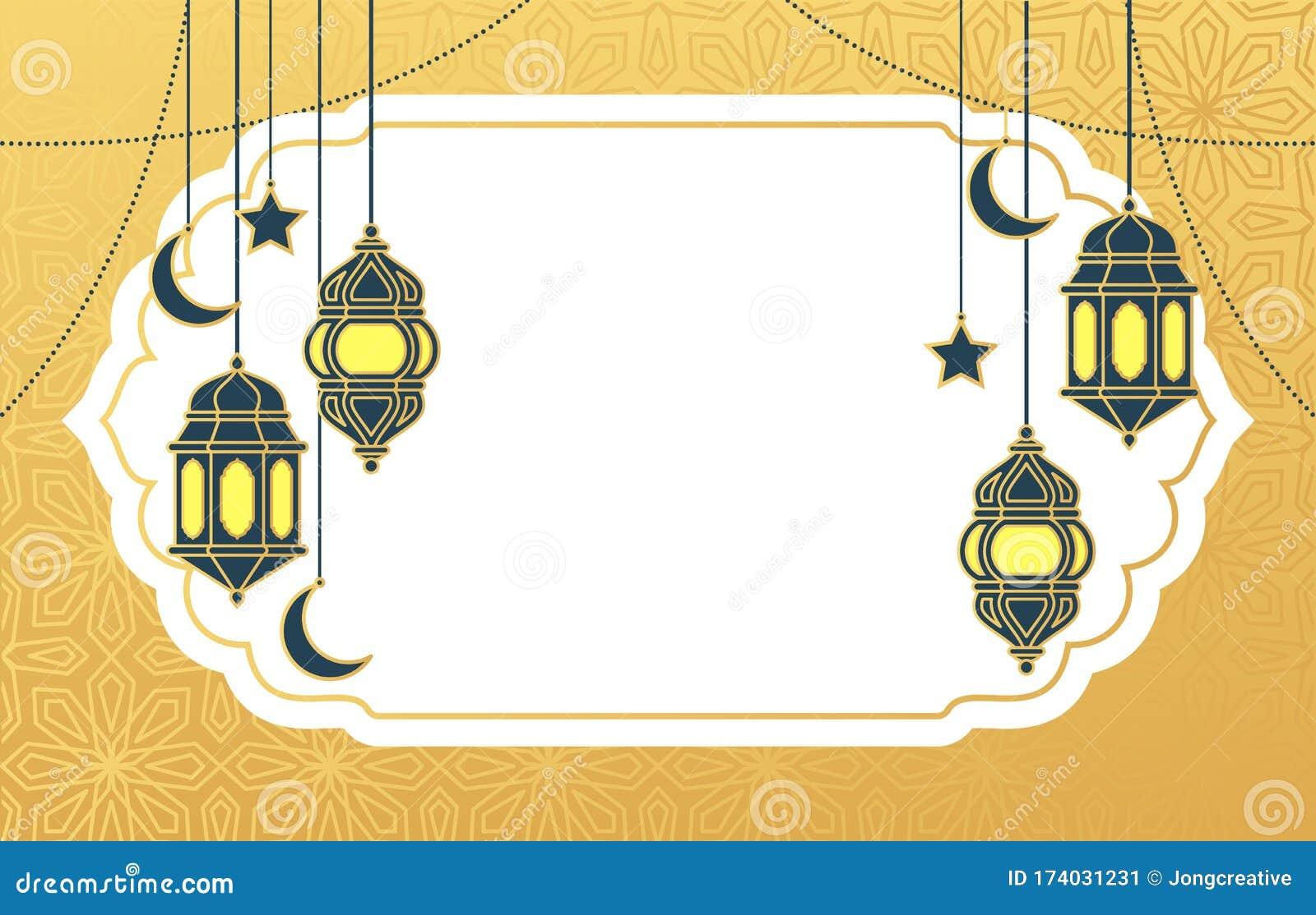 Islamic Arabic Lantern For Ramadan Kareem Eid Mubarak Background Stock Vector Illustration Of Hanging Holy 174031231