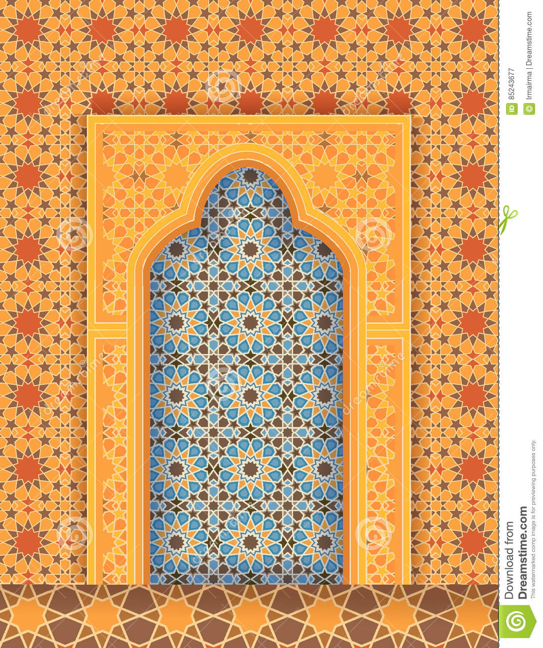 Islamic art arch stock photo 32640114 for Maison traditionnelle tunisienne