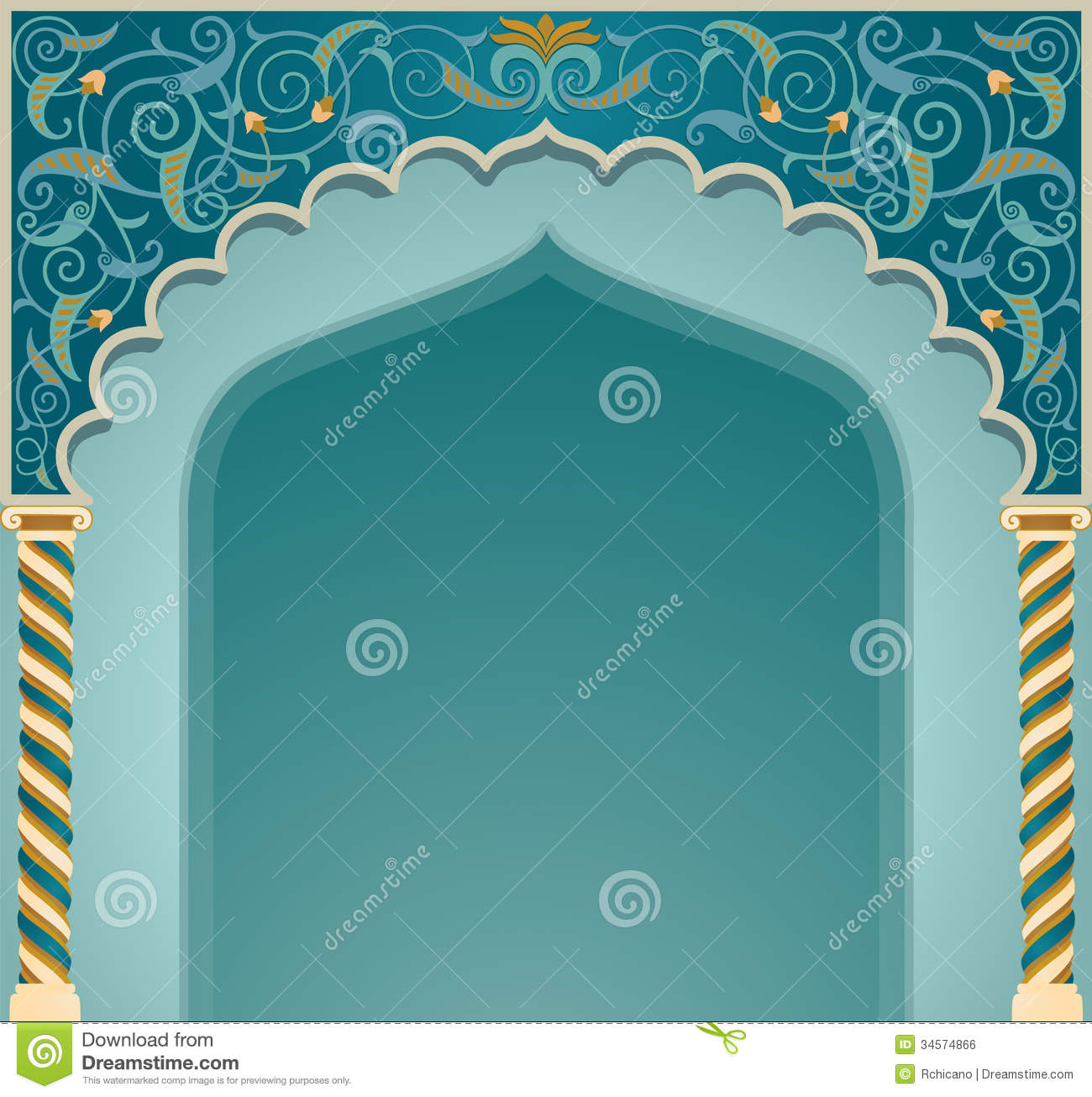 Islamic arch design stock vector illustration of background islamic arch design thecheapjerseys Image collections