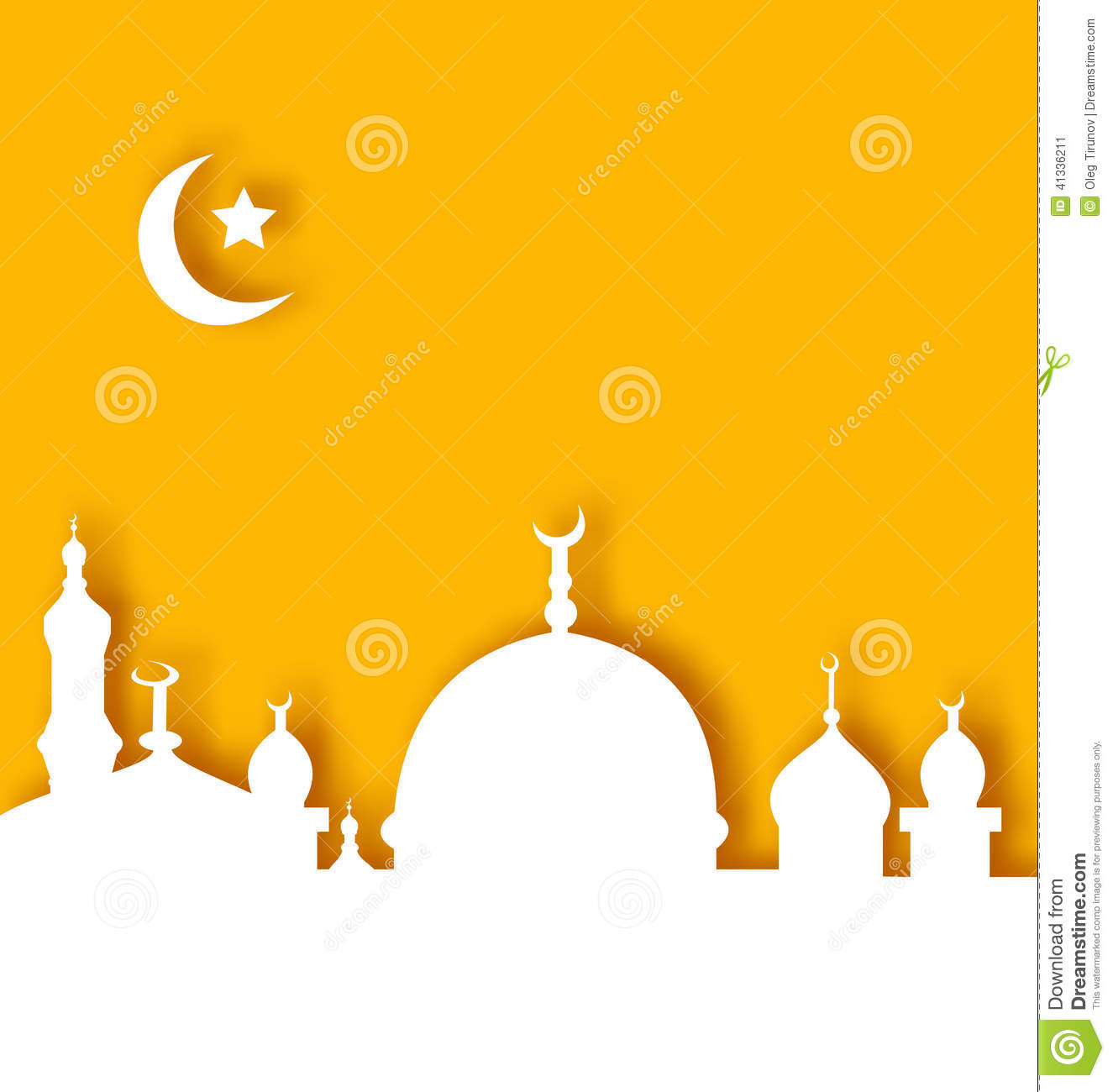 Islamic Architecture Background, Ramadan Kareem Stock Vector - Image ...