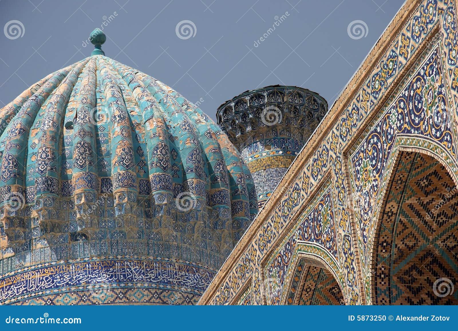 Islamic Architecture In Samarkand, Uzbekistan Stock Photo - Image ...