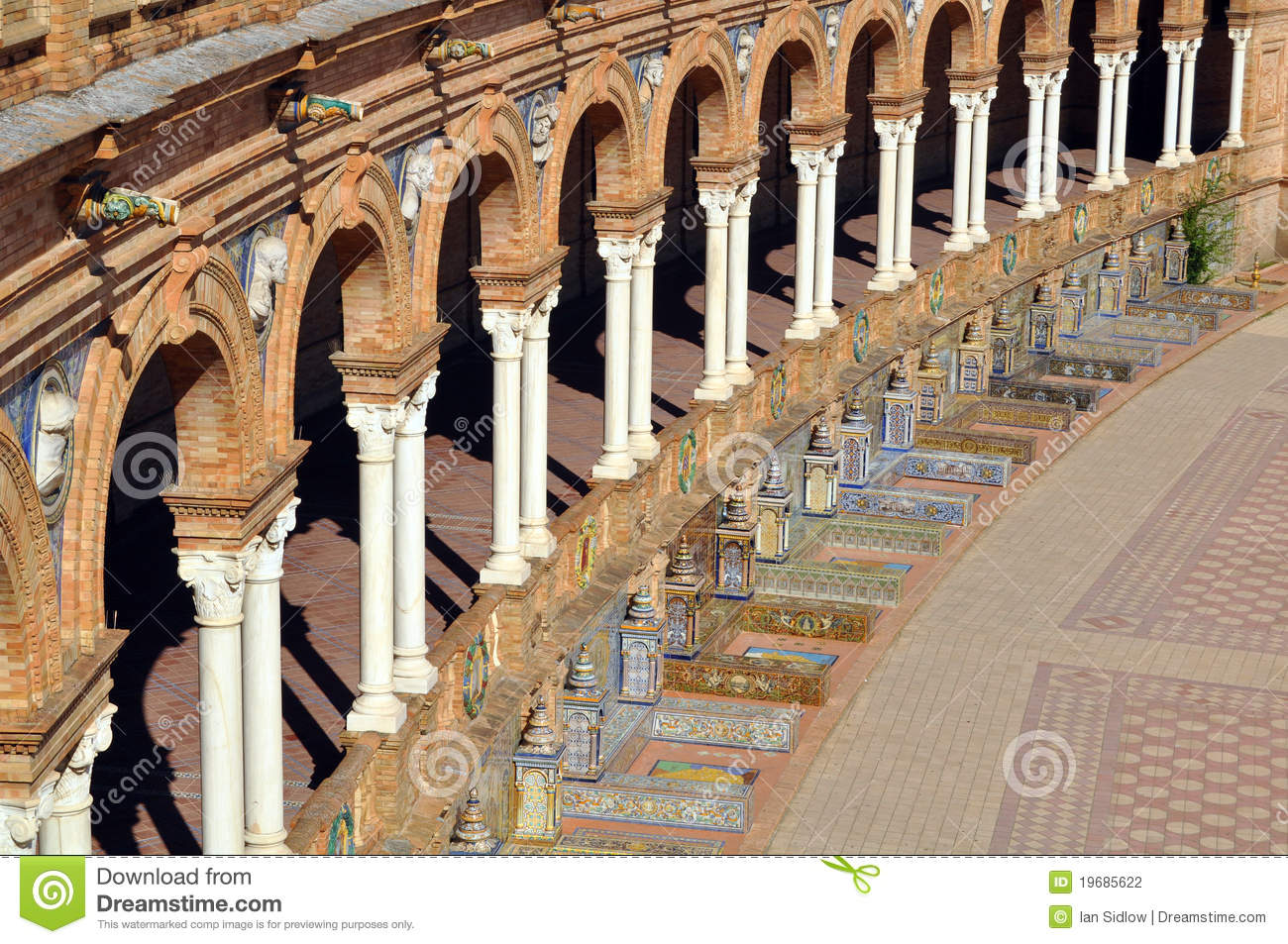 islamic architecture in seville stock photo image of detail