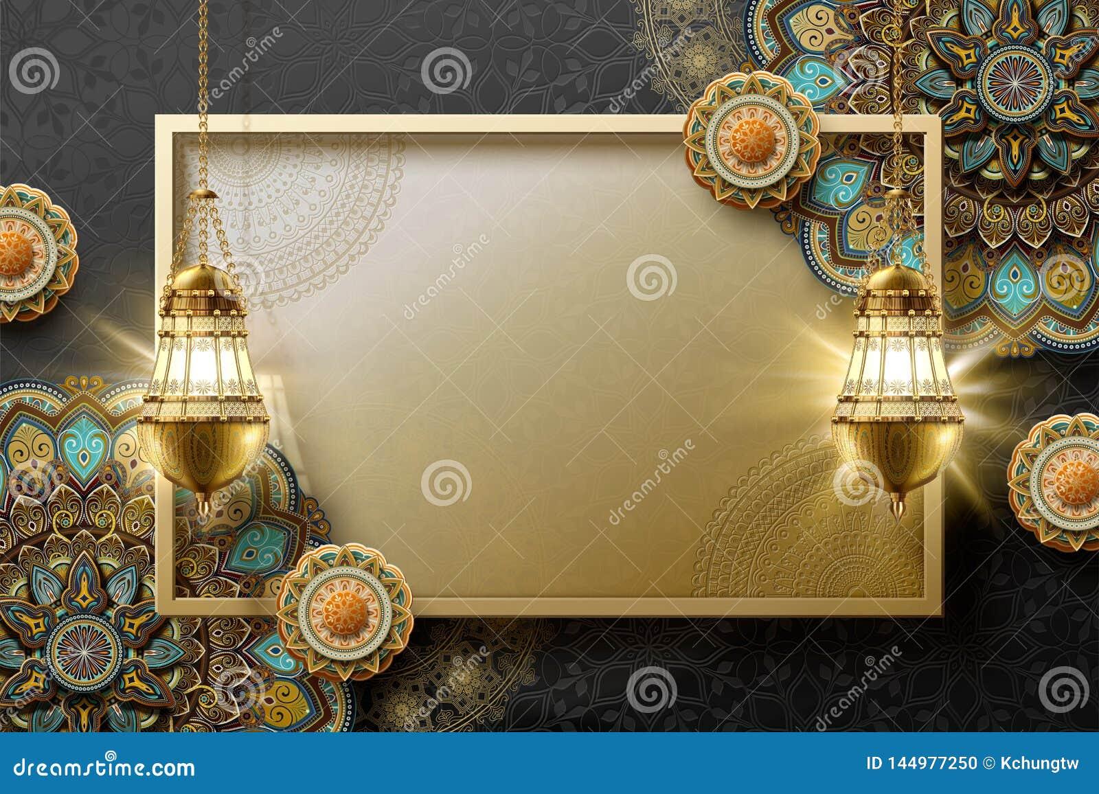 Islamic Art Background Stock Vector. Illustration Of Muslim - 144977250