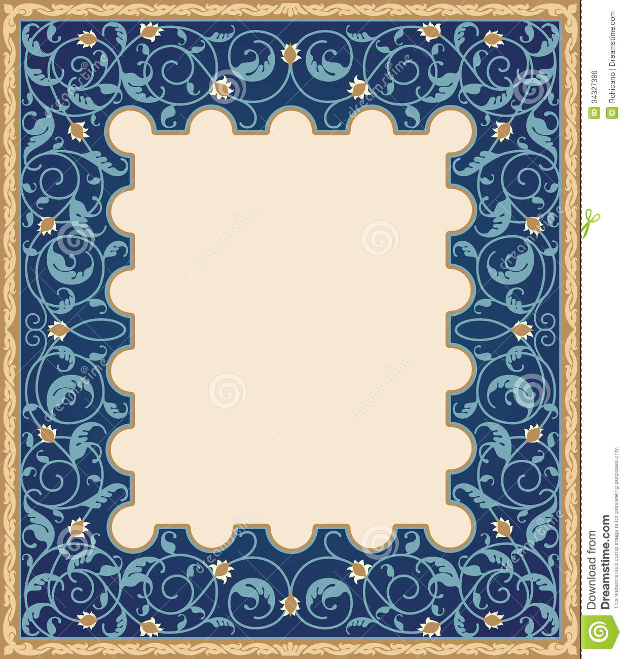 Islamic art frame stock vector illustration of color 34327386 islamic art frame thecheapjerseys Image collections
