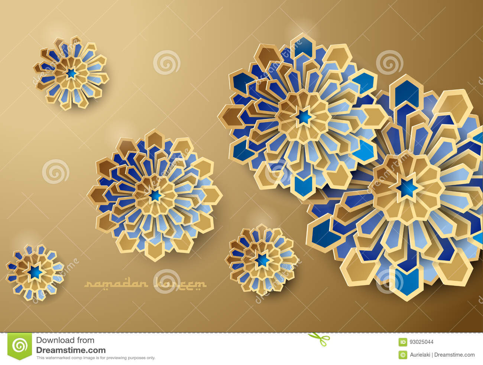 Geometric Decorative Islamic Art Ornament Vector Design Free