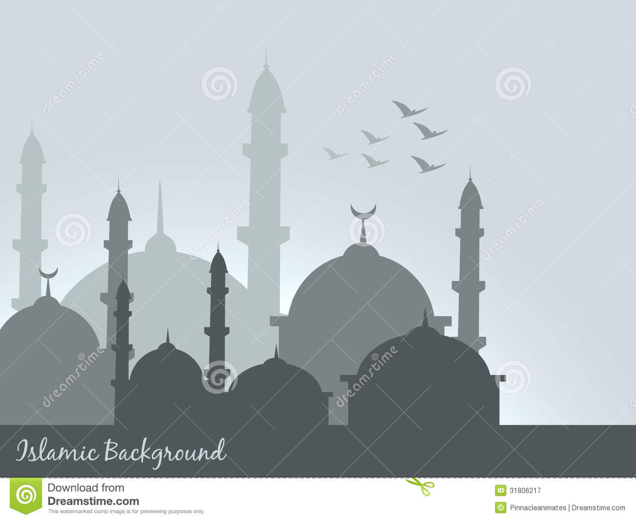 Islamic Background Stock Vector. Illustration Of Adha