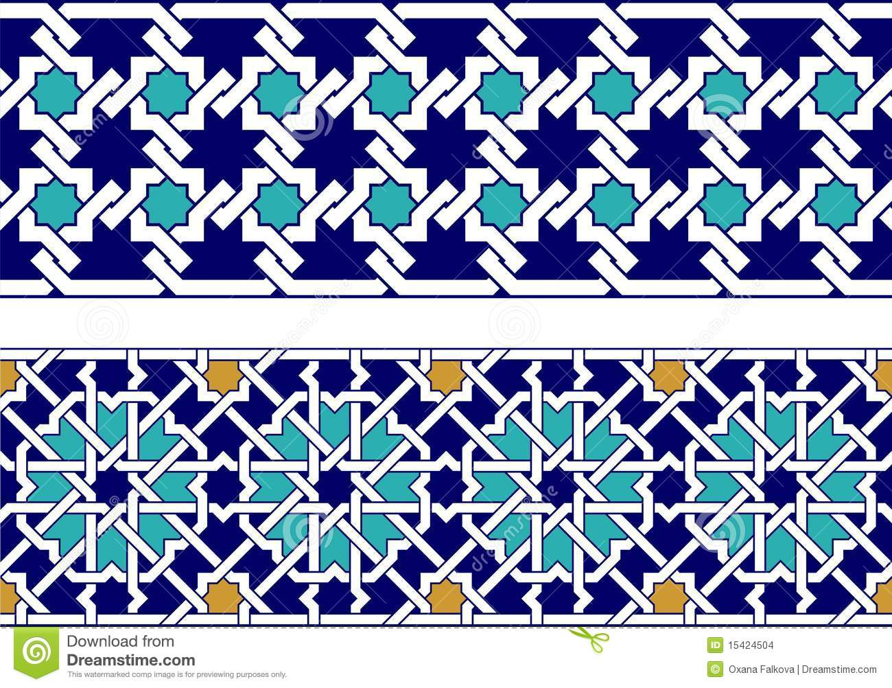 Islamic border stock vector. Illustration of decorative ... Islamic Art Design Border