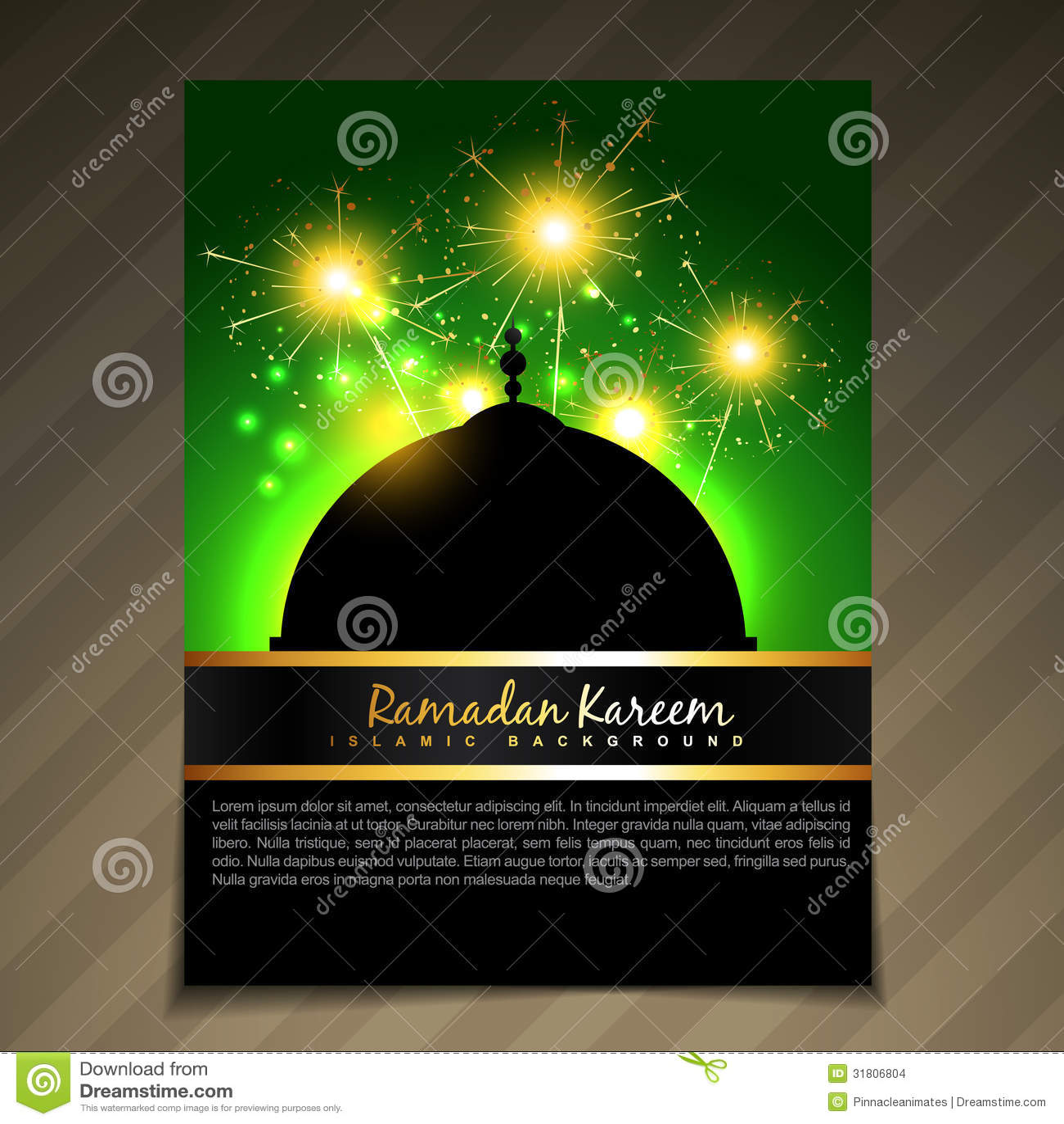 muslim will template - islamic brochure deesign stock images image 31806804