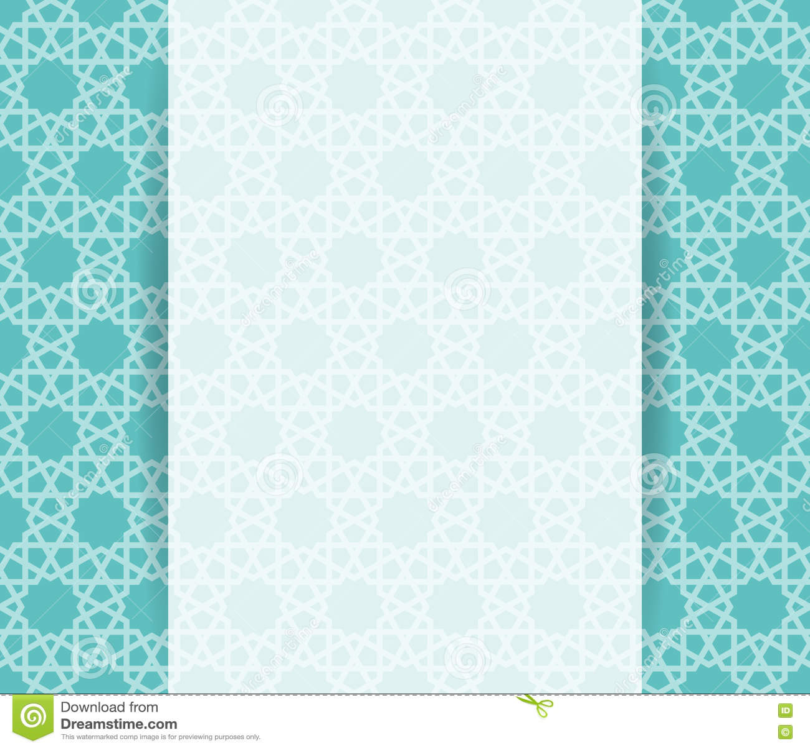 Islamic brochure vector stock vector illustration of for Islamic brochure design