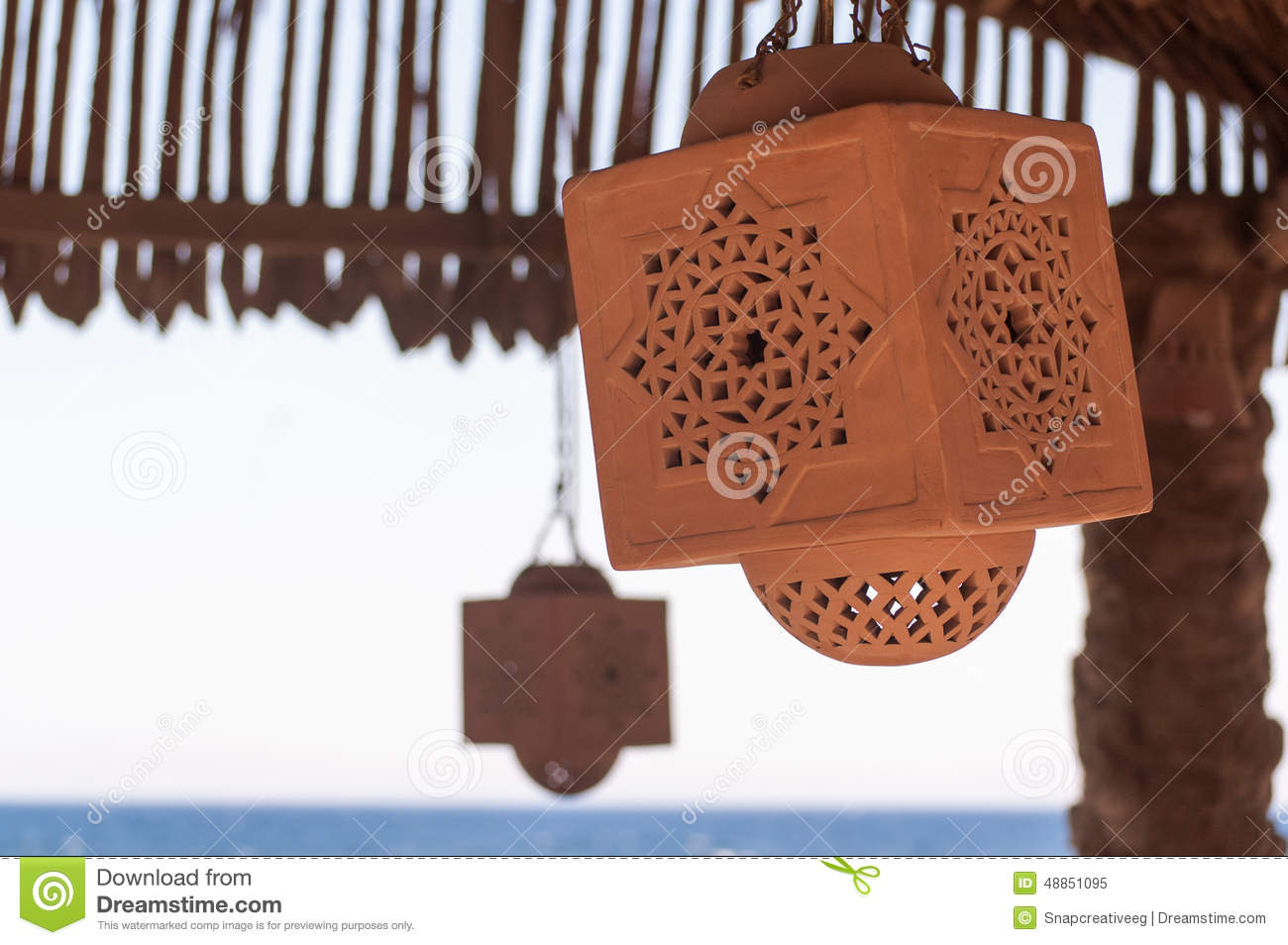 Islamic clay lamp stock image. Image of outdoor, pottery - 48851095 for Clay Lamp Design  110ylc