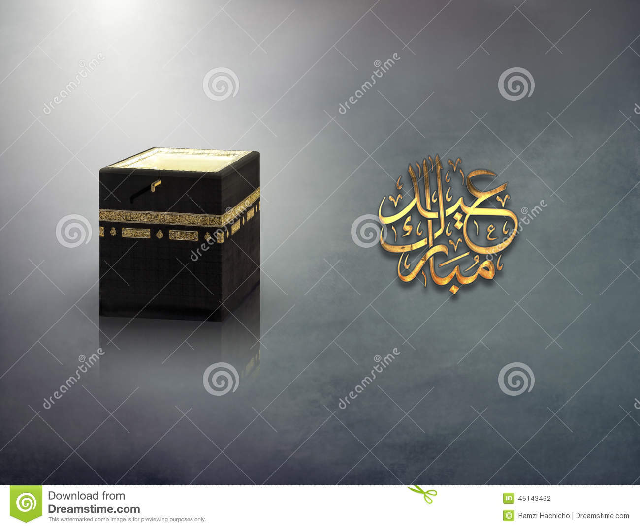 Islamic Concept Of Adha Greeting And Kaaba Holy Month For Hajj In