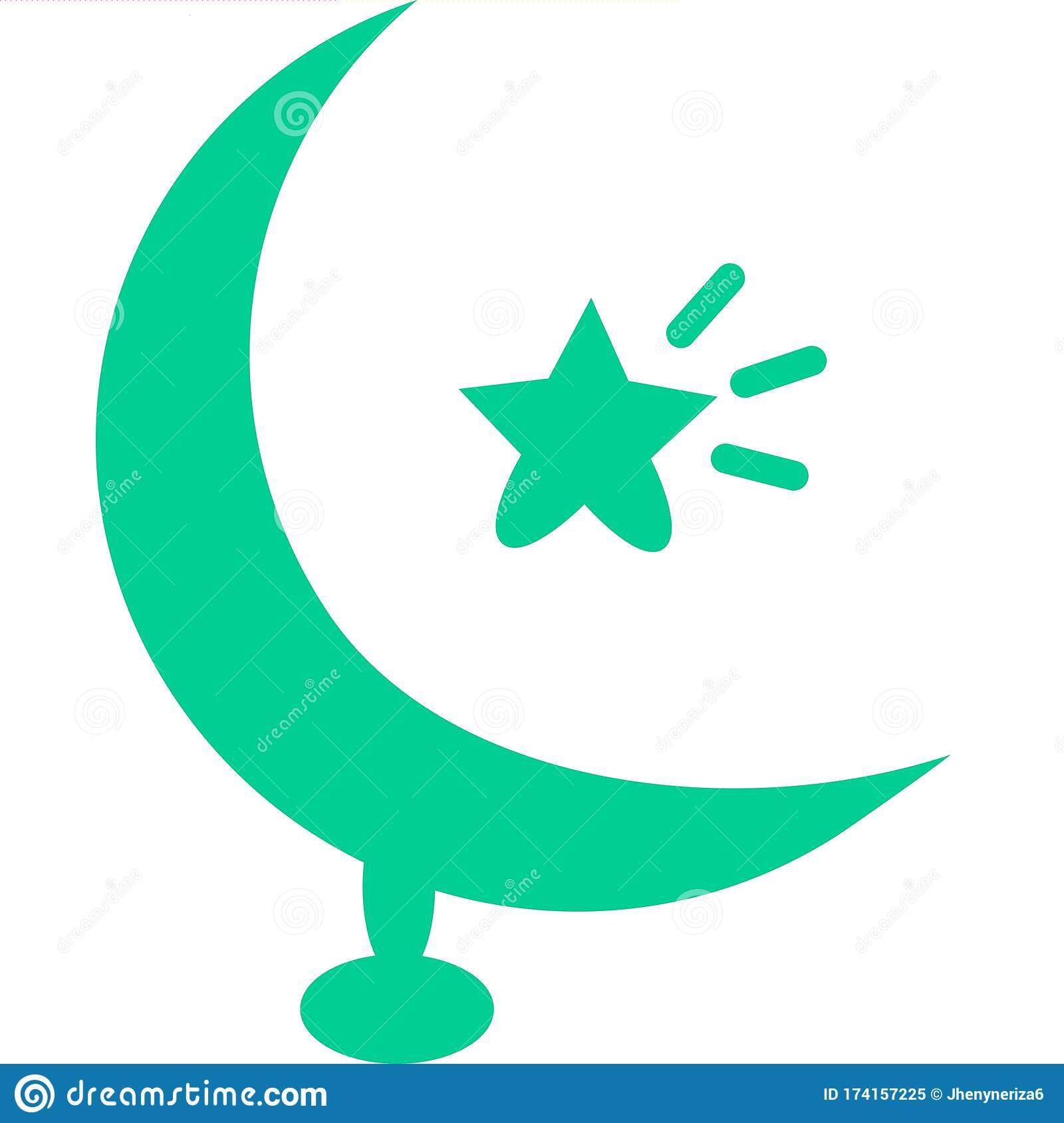 Islamic Crescent Moon And Star Dome On White Background ... |Lunar Dome Drawings
