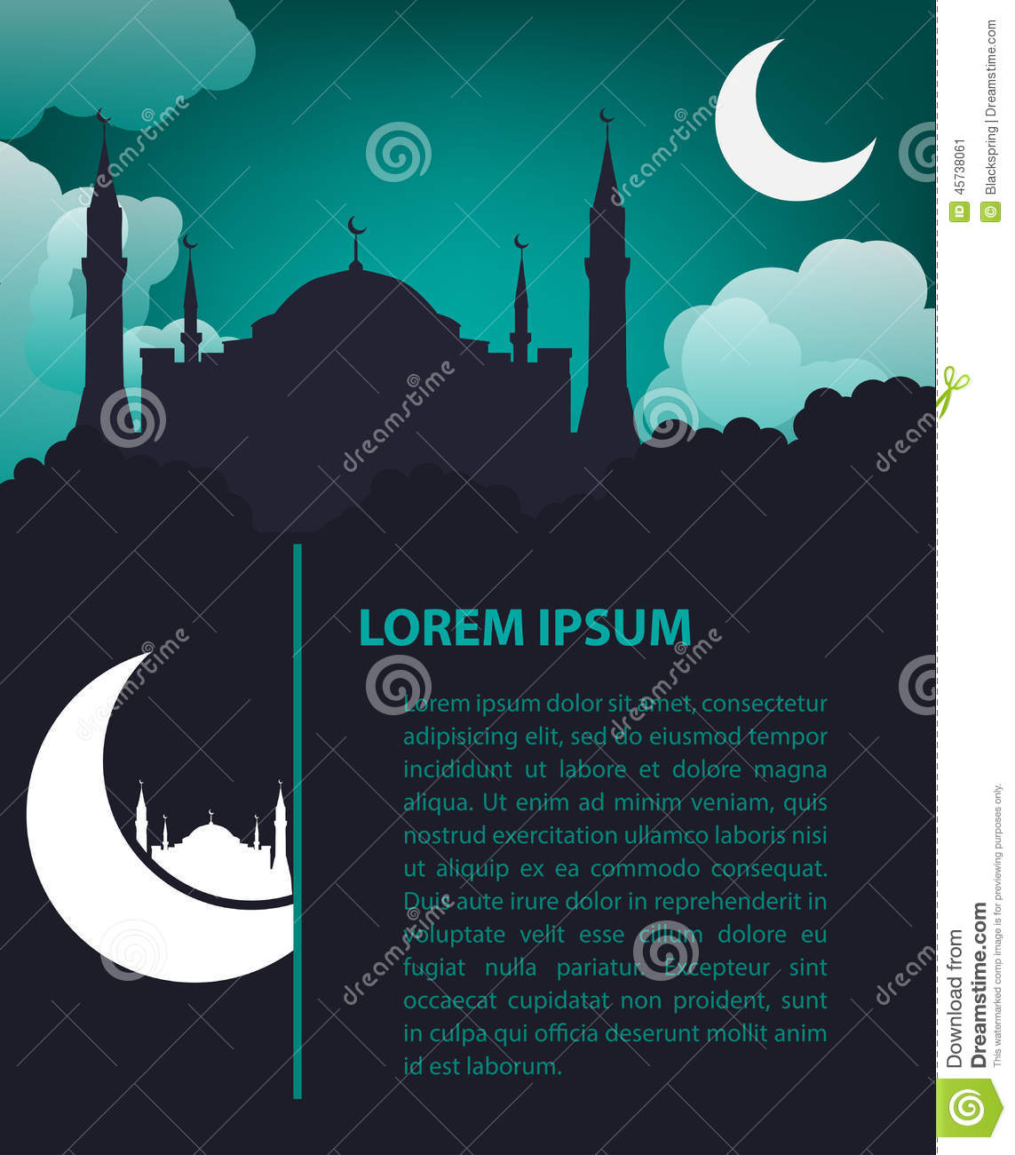 Islamic design template stock vector illustration of background islamic design template alramifo Choice Image