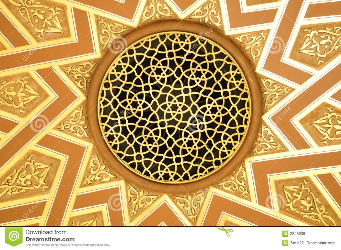 Islamic Dome Stock Image Image Of Islam Golden Middle