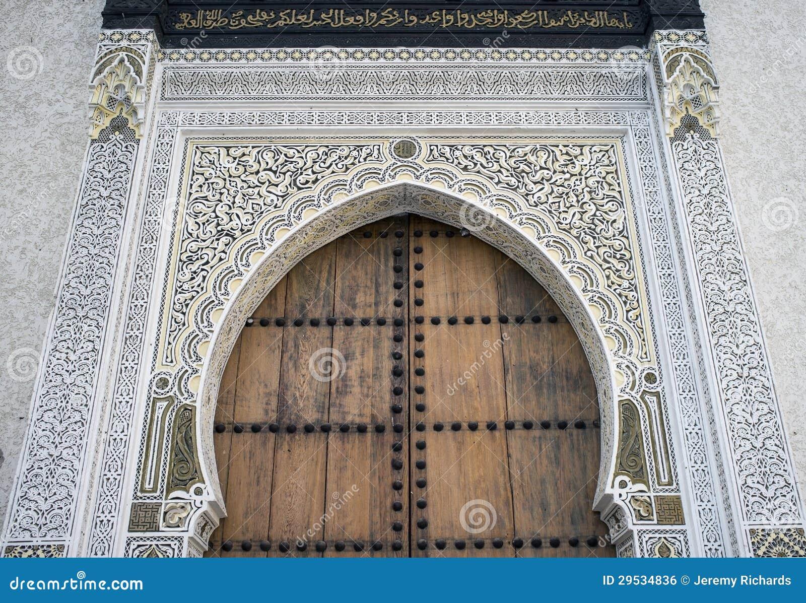 Islamic Door & Islamic Door stock photo. Image of tiles moroccan medina - 29534836
