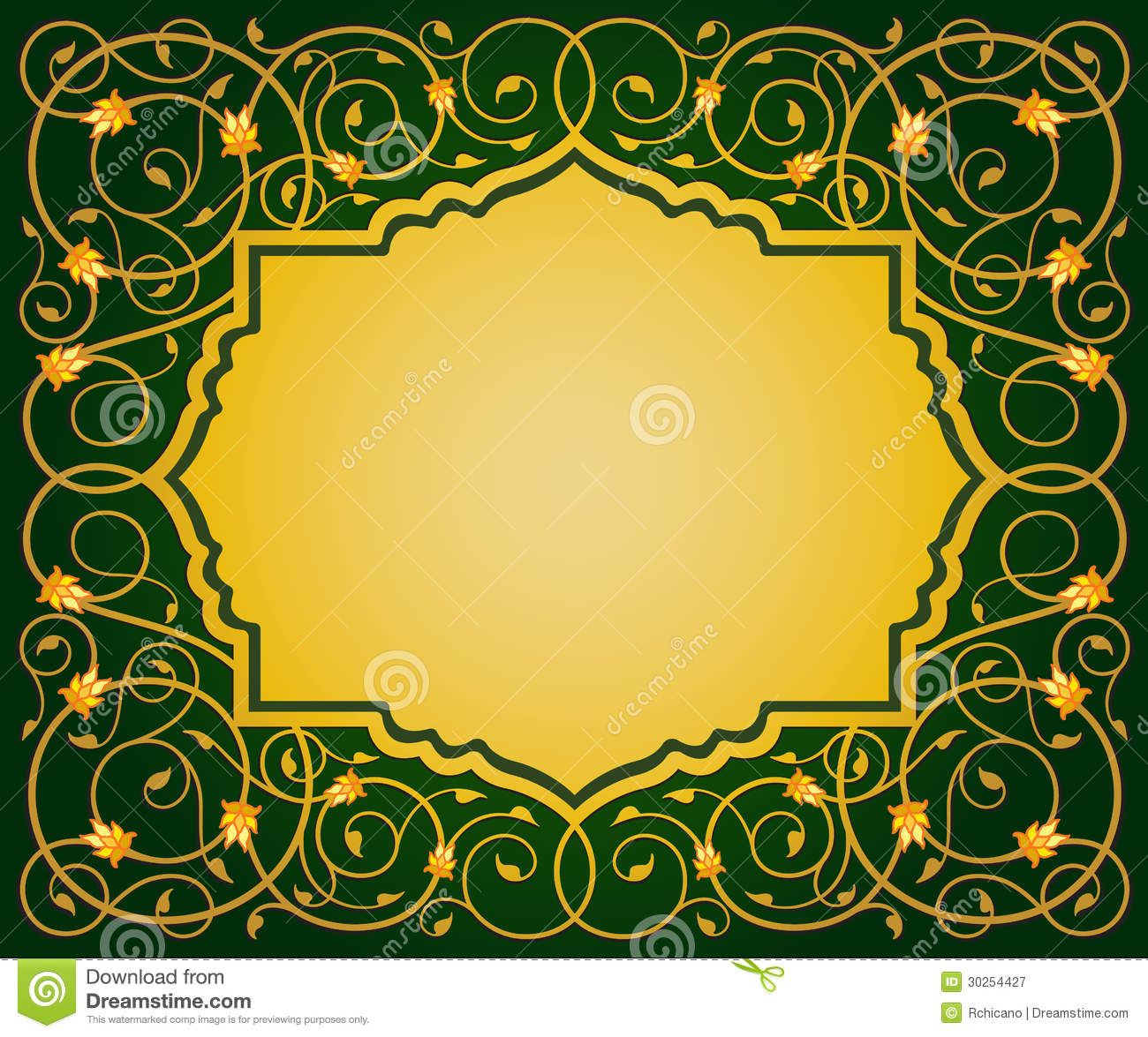 Islamic floral art border stock vector illustration of gold 30254427 islamic floral art border toneelgroepblik Image collections