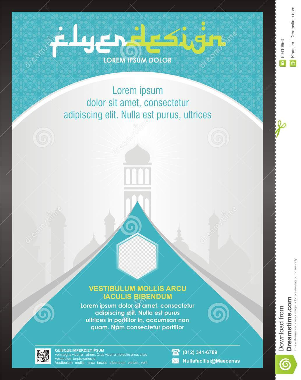 Royalty Free Stock Image Islamic Flyer Brochure