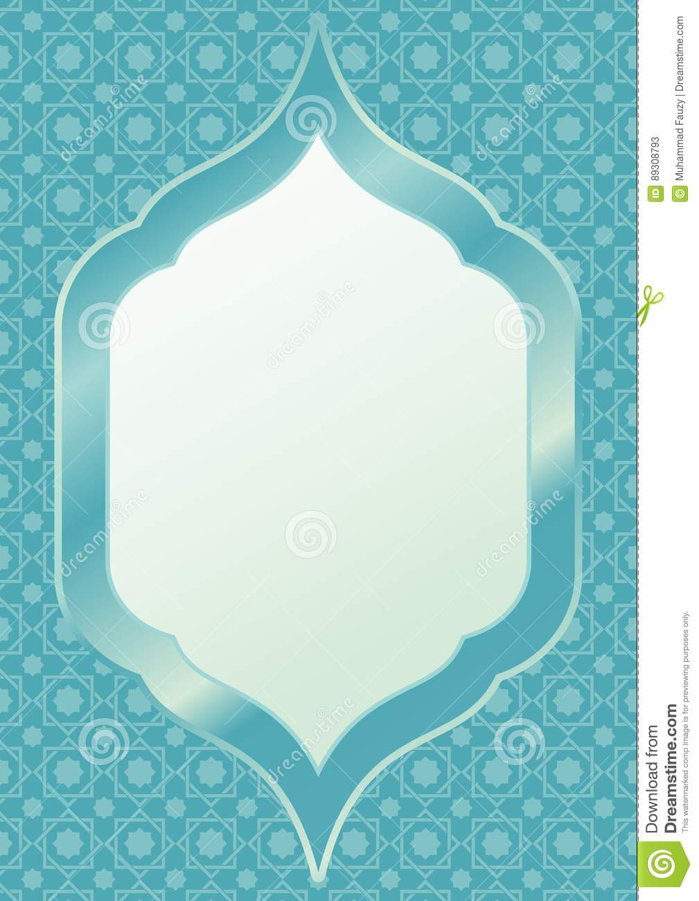 Islamic frame vector stock vector illustration of ready 89308793 download comp thecheapjerseys Image collections