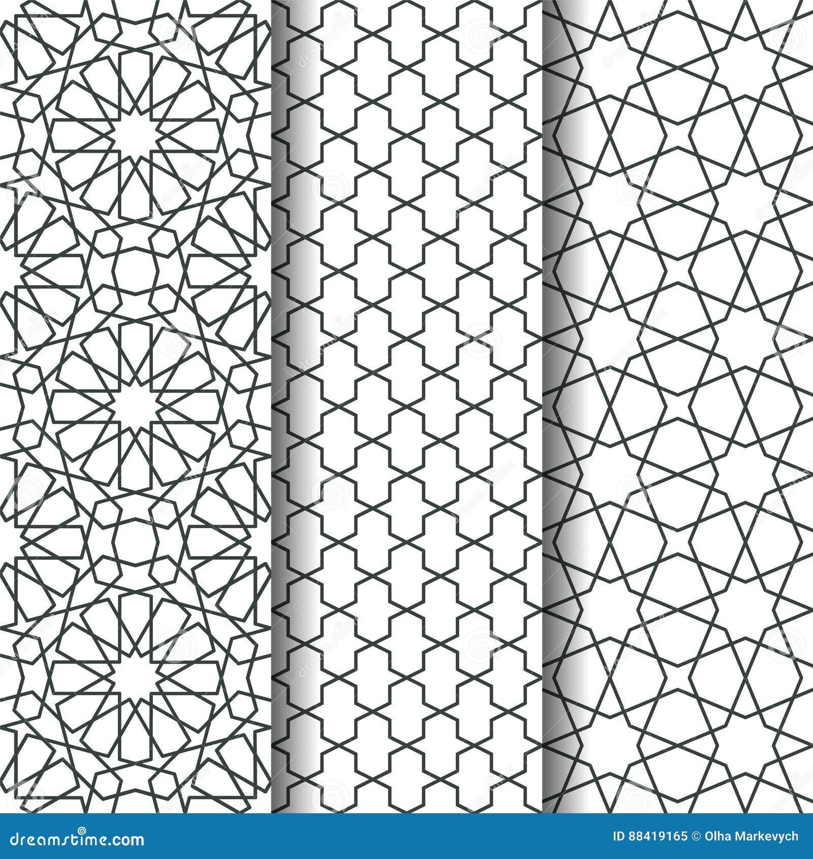 Islamic geometry pattern stock