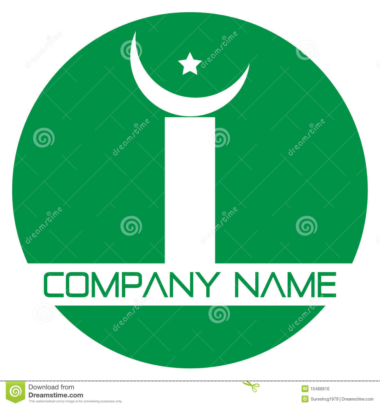 Islamic Logo Stock Vector Illustration Of Religion Moon 15466610