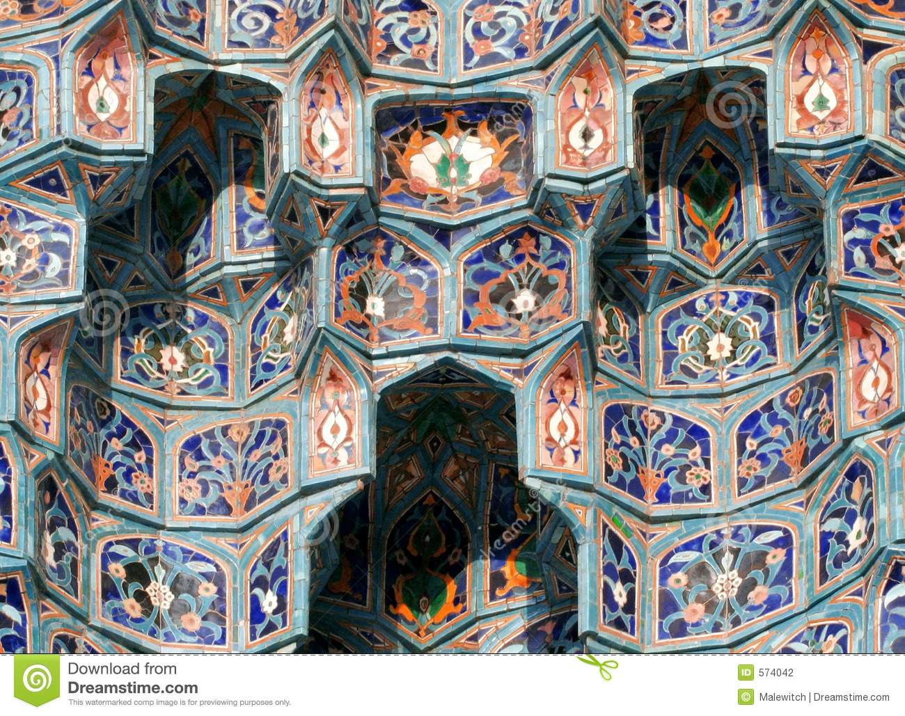 islamic mosaic-3 stock photography