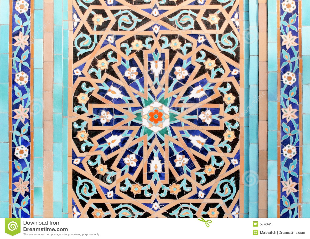 Islamic Mosaic 4 Stock Image Image Of Mohammad Iron