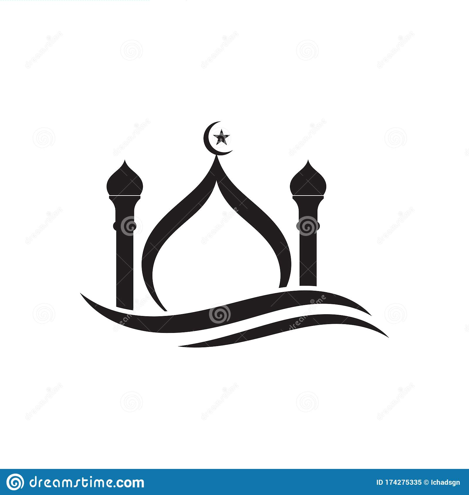 islamic mosque logo vector icon stock vector illustration of islam muslim 174275335 dreamstime com