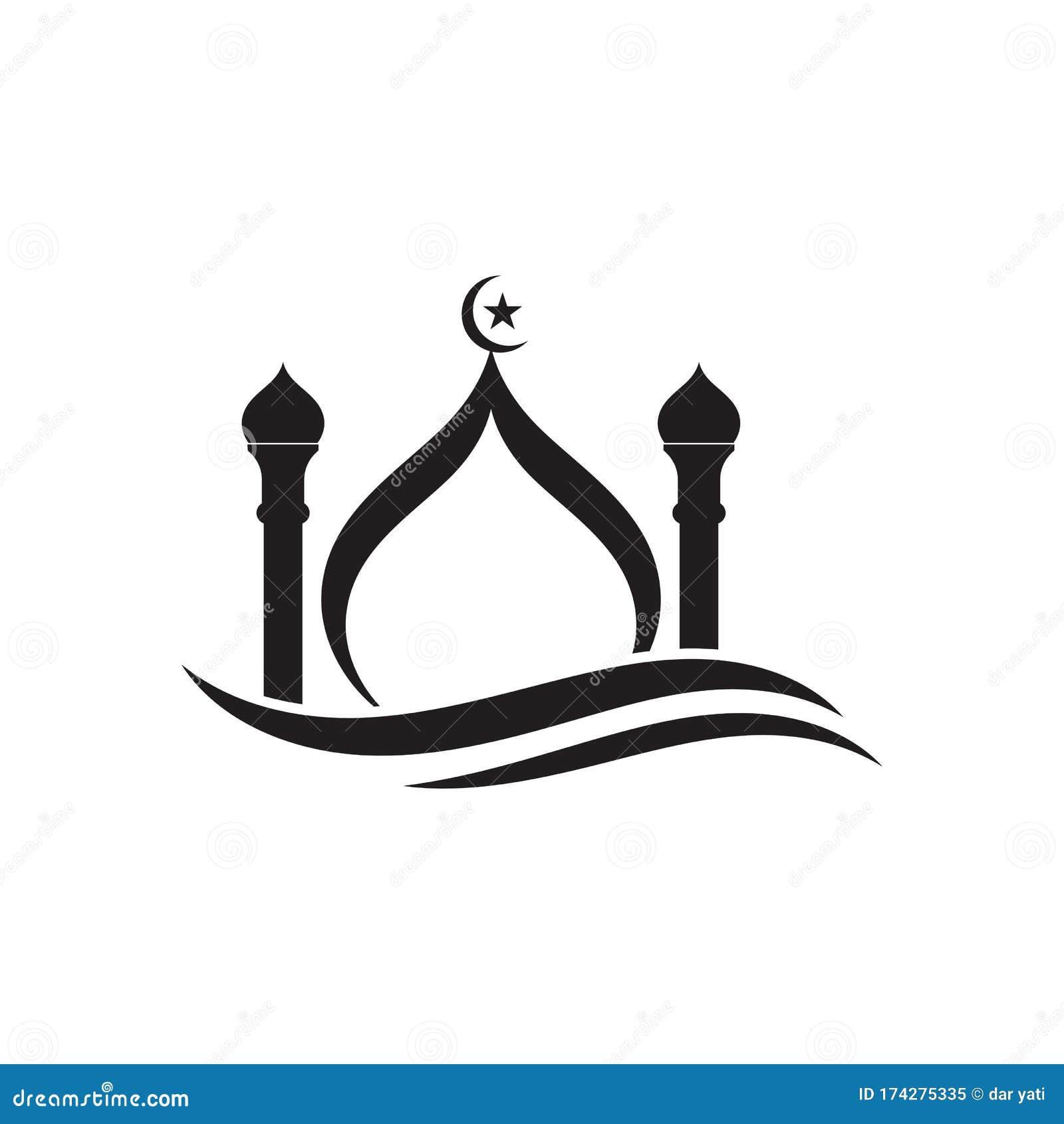 islamic mosque logo vector icon stock vector illustration of islam muslim 174275335 dreamstime com