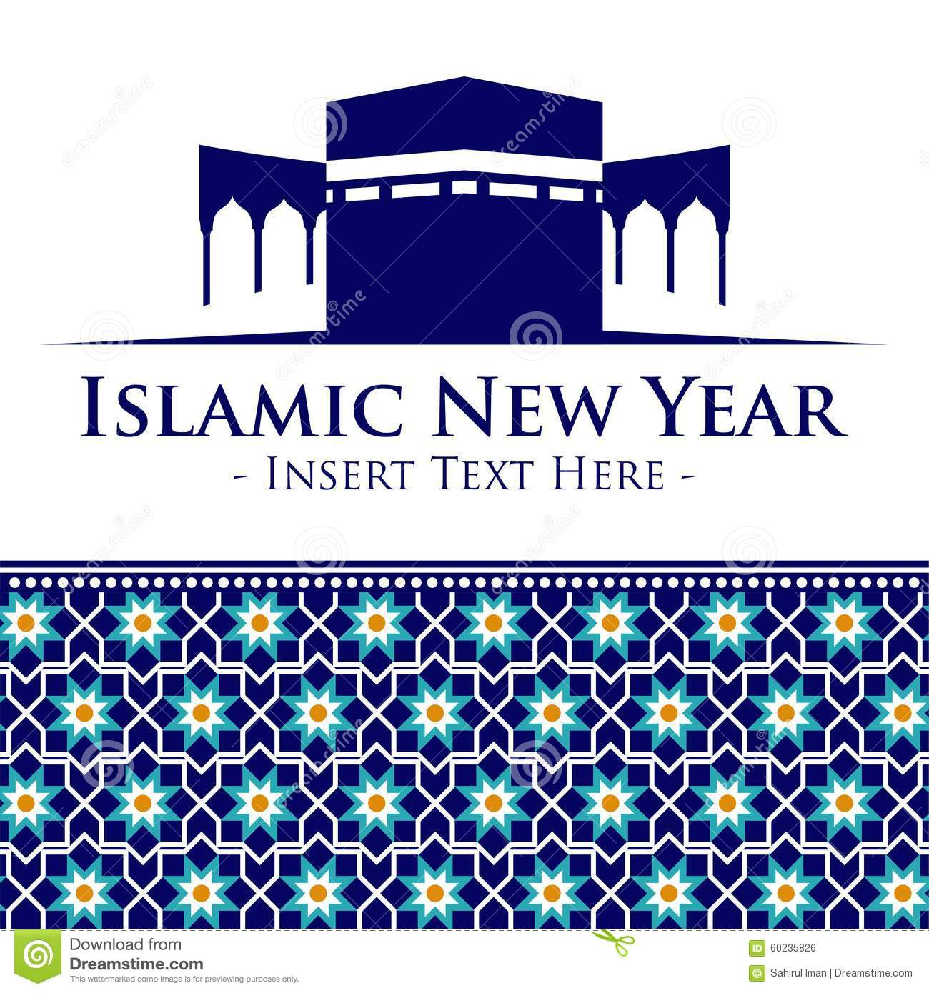 islamic new year logo vector template