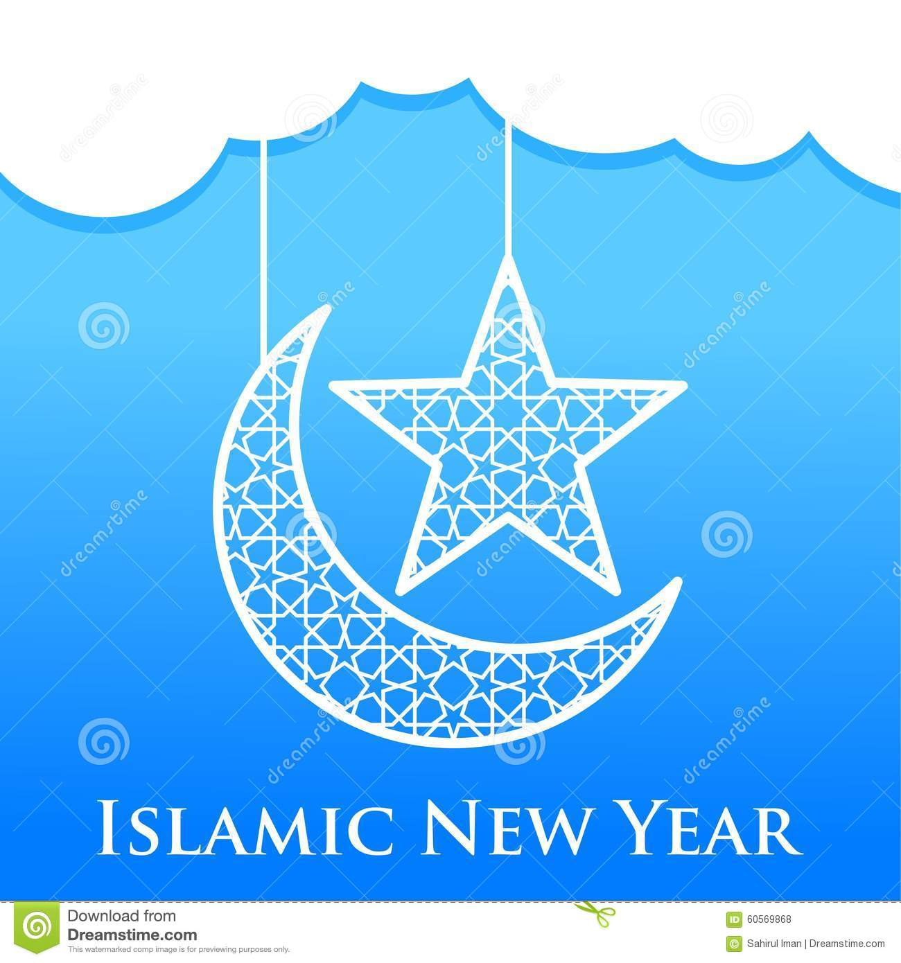 Islamic New Year Vector Template Stock Illustration