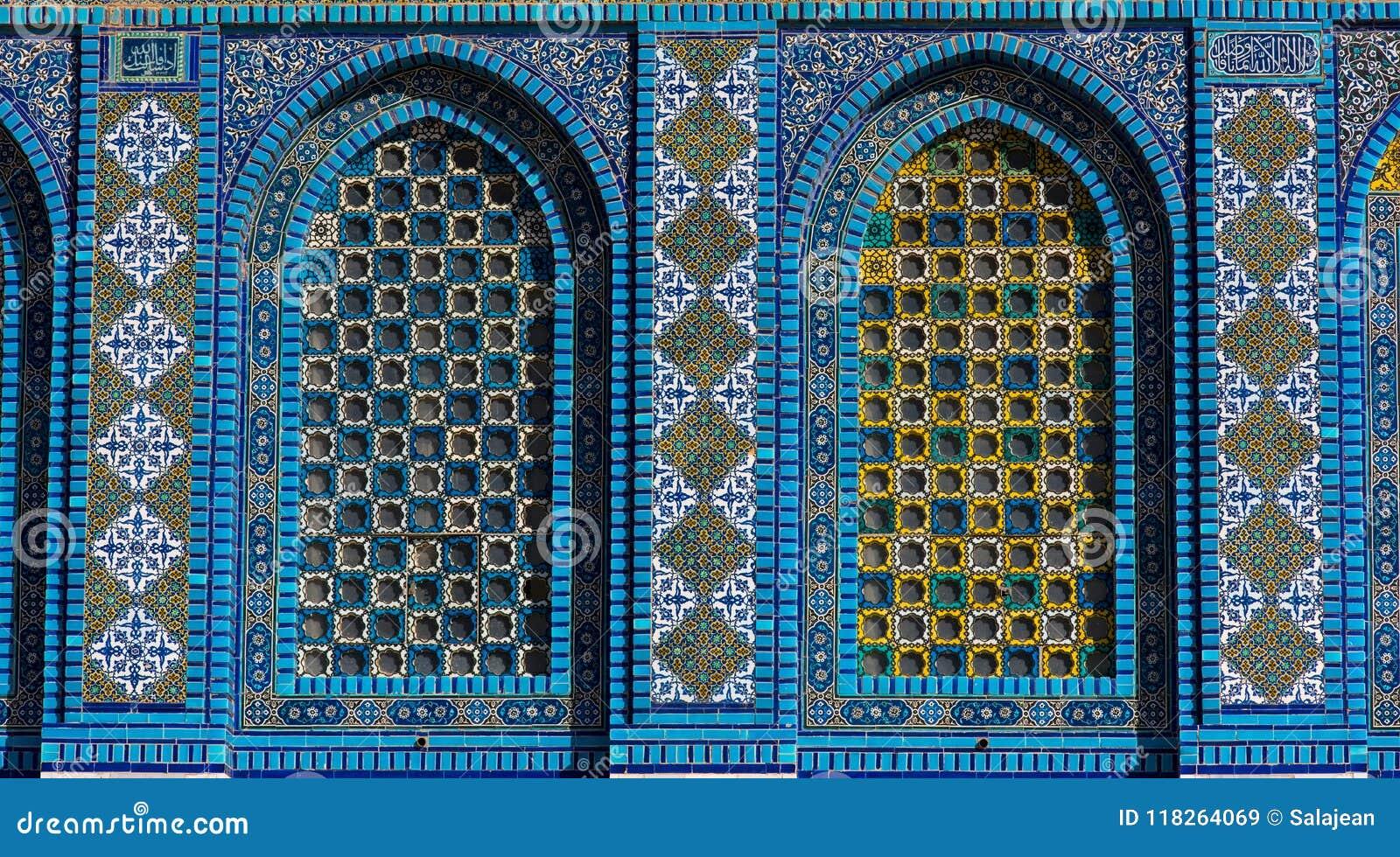 Islamic Pattern, Tile Mosaic On Mosque Stock Image - Image of holy ...