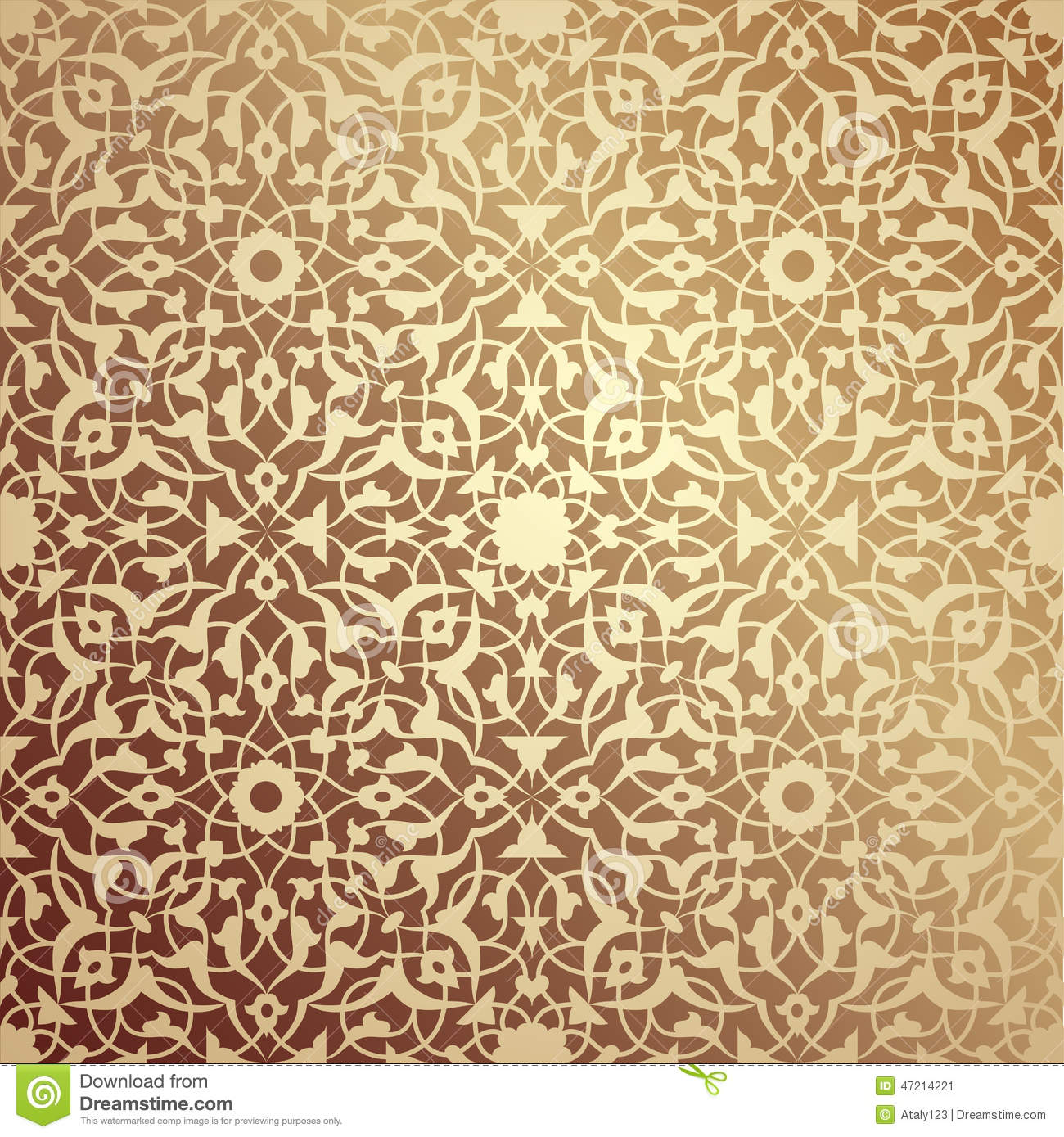 brown and gold geometric wallpaper