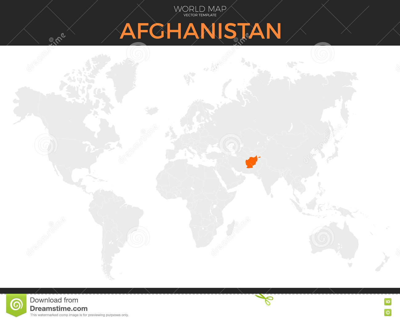 Islamic Republic Of Afghanistan Location Map Stock Vector ...