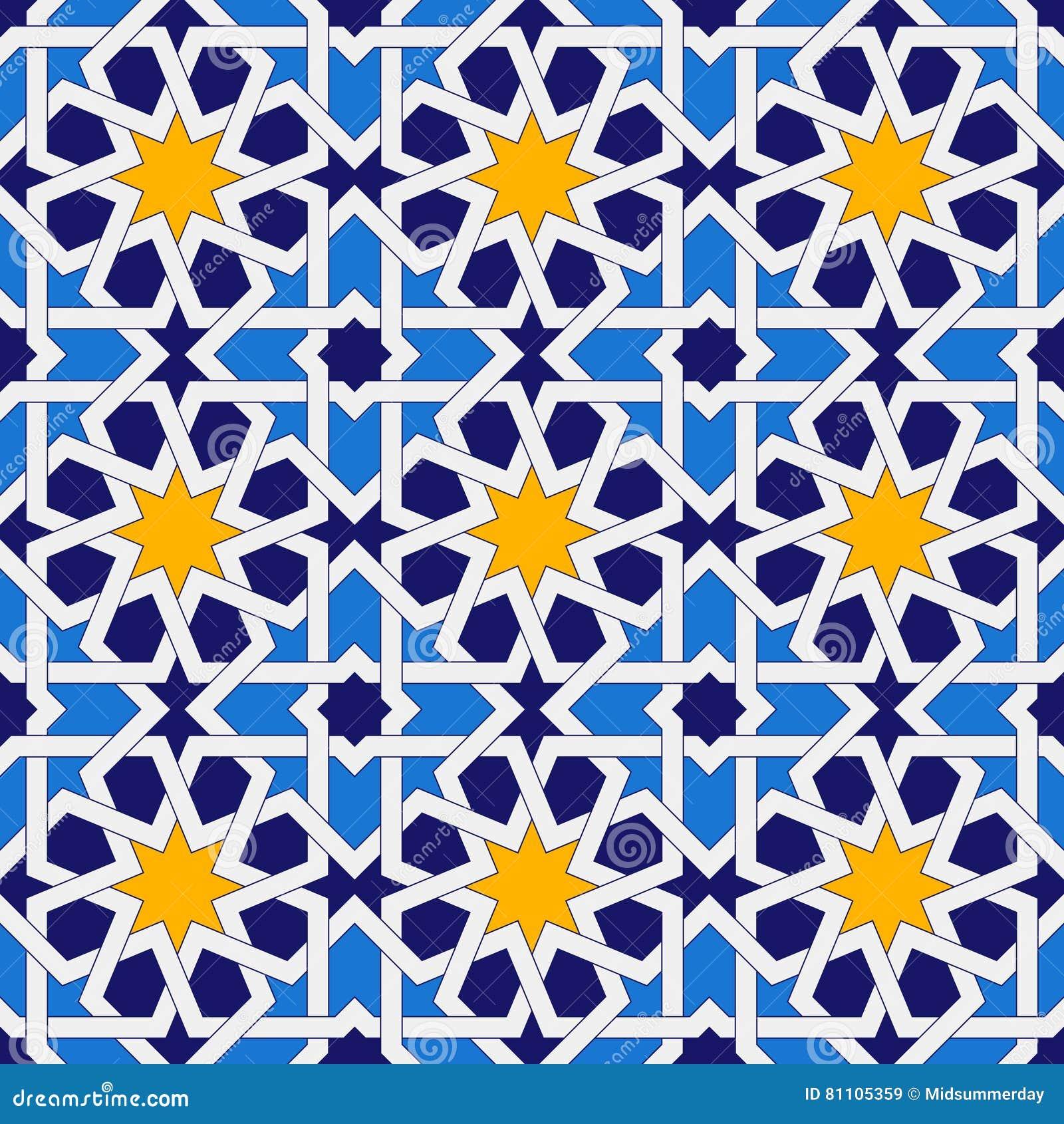 Islamic Seamless Pattern Oriental Geometric Ornaments
