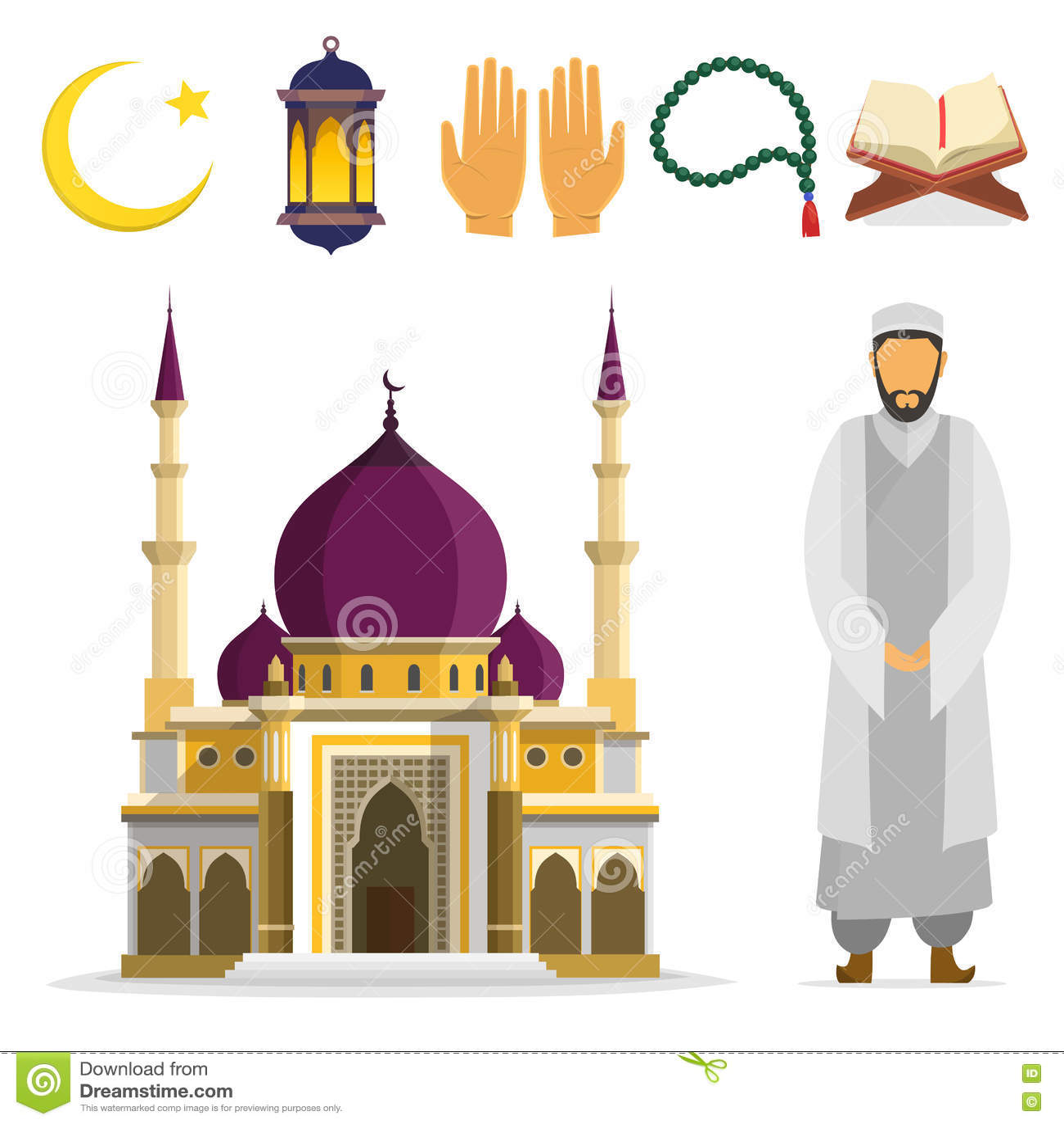 Islamic Set Stock Illustration Illustration Of Arab 72312329