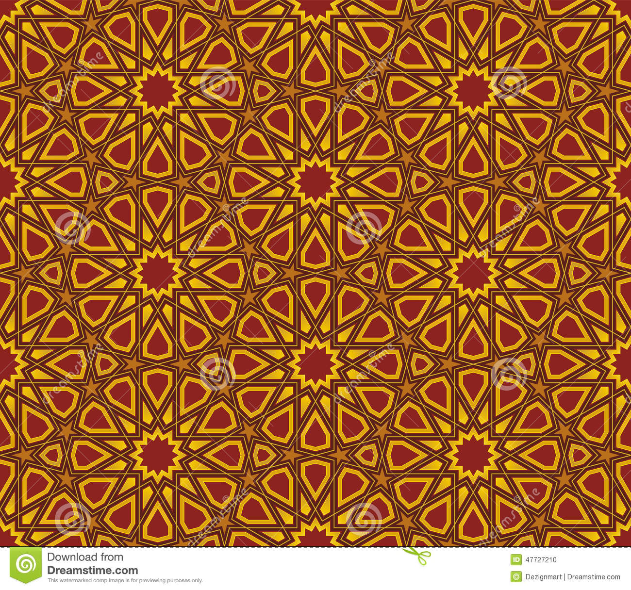 Islamic Star Pattern Background Stock Vector - Image: 47727210