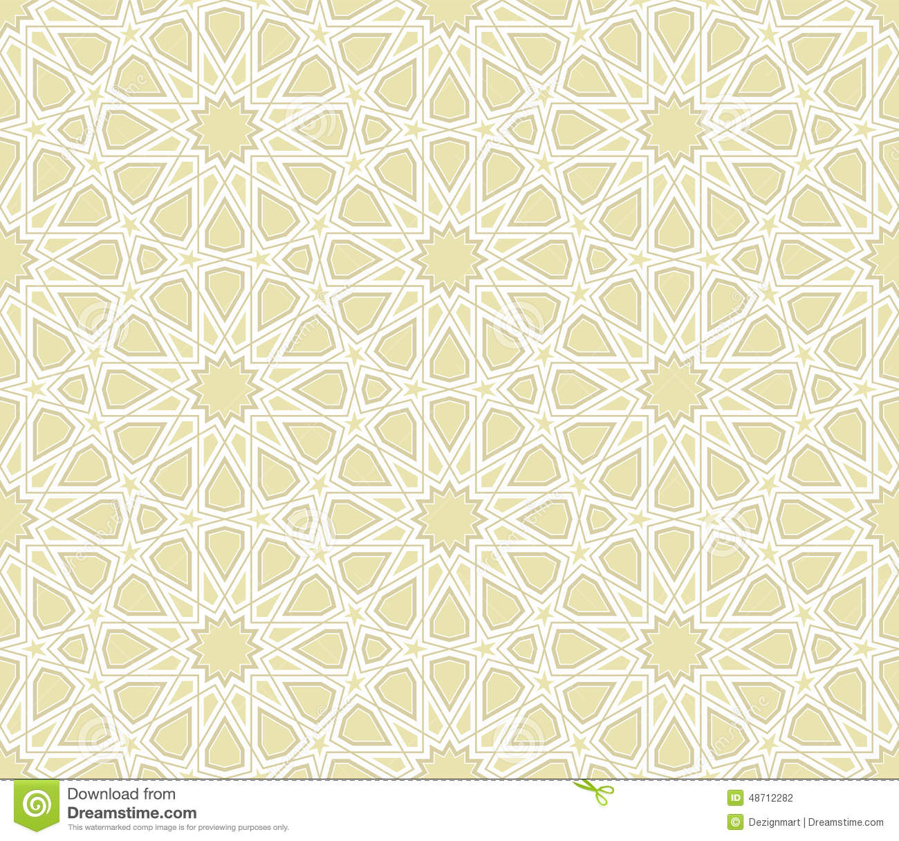 Islamic Star Pattern With Light Background Stock Vector