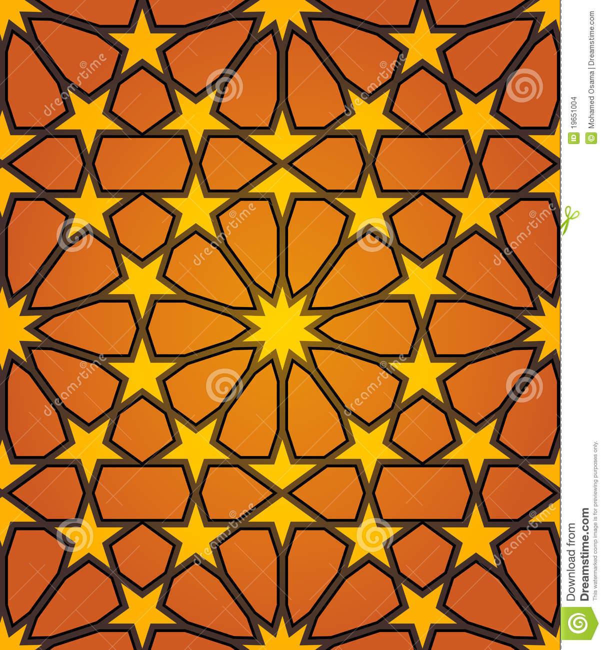 islamic star seamless pattern stock vector image 19651004