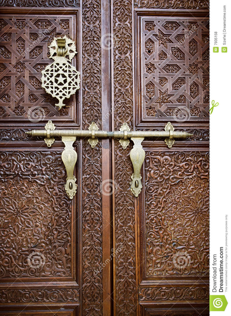 Islamic Style Door Stock Photo Image Of Carving Malay