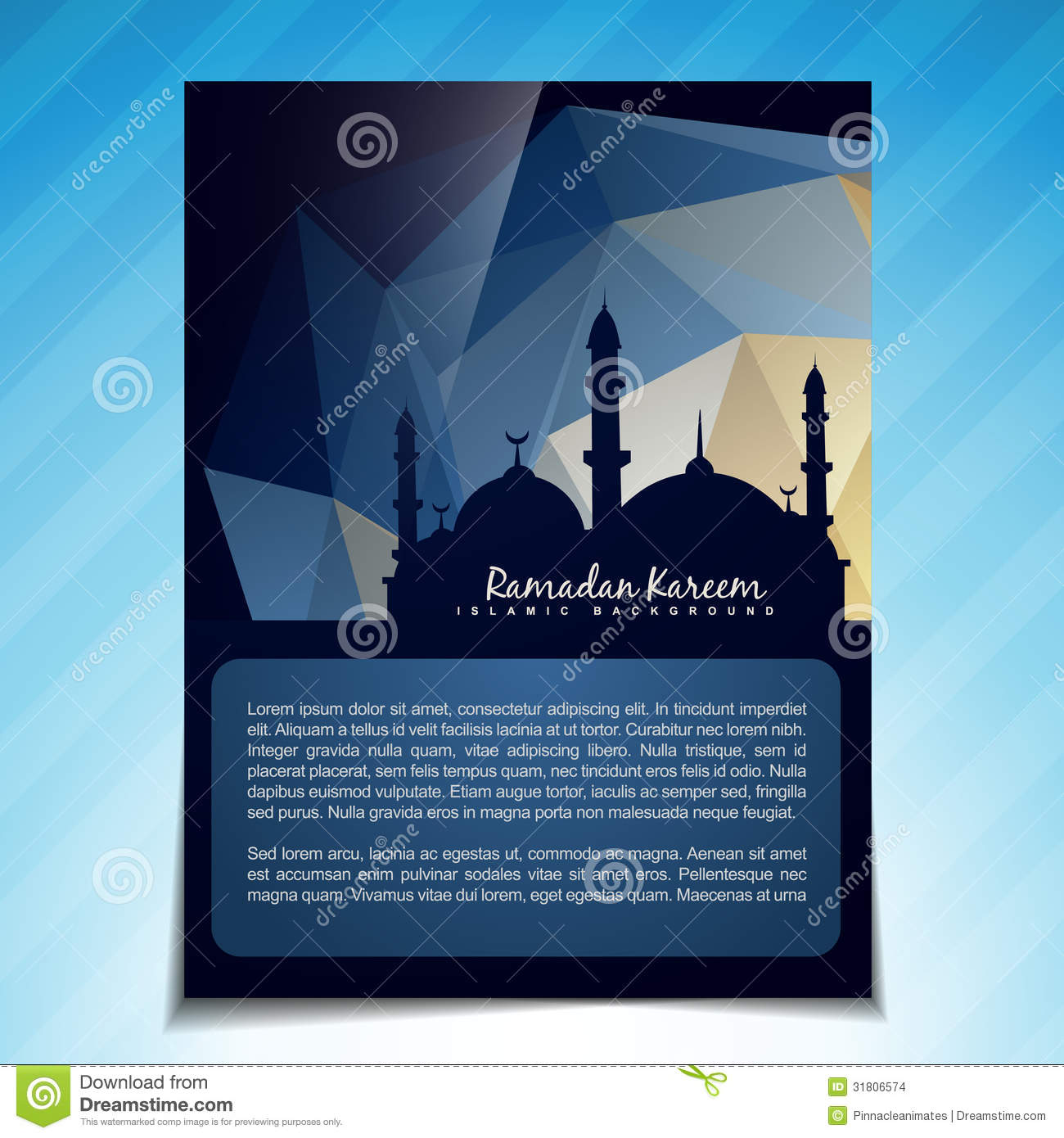 Islamic template vector stock images image 31806574 for Islamic brochure design