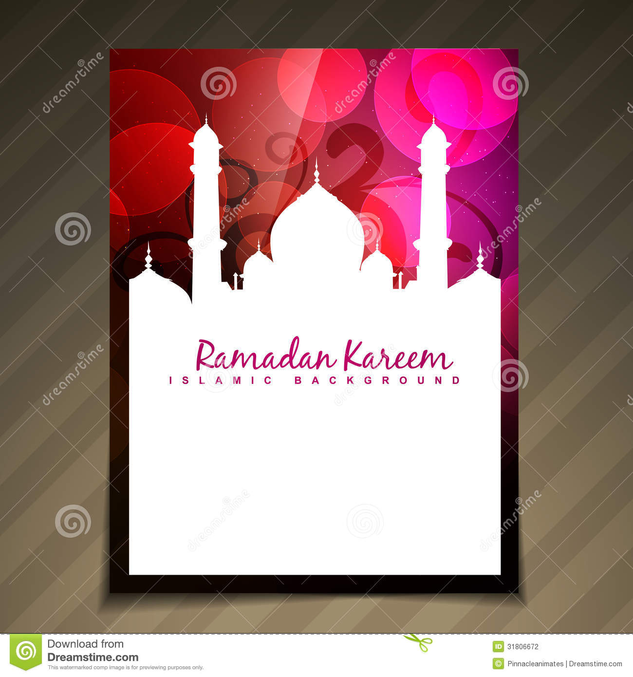 muslim will template - islamic template vector stock photography image 31806672