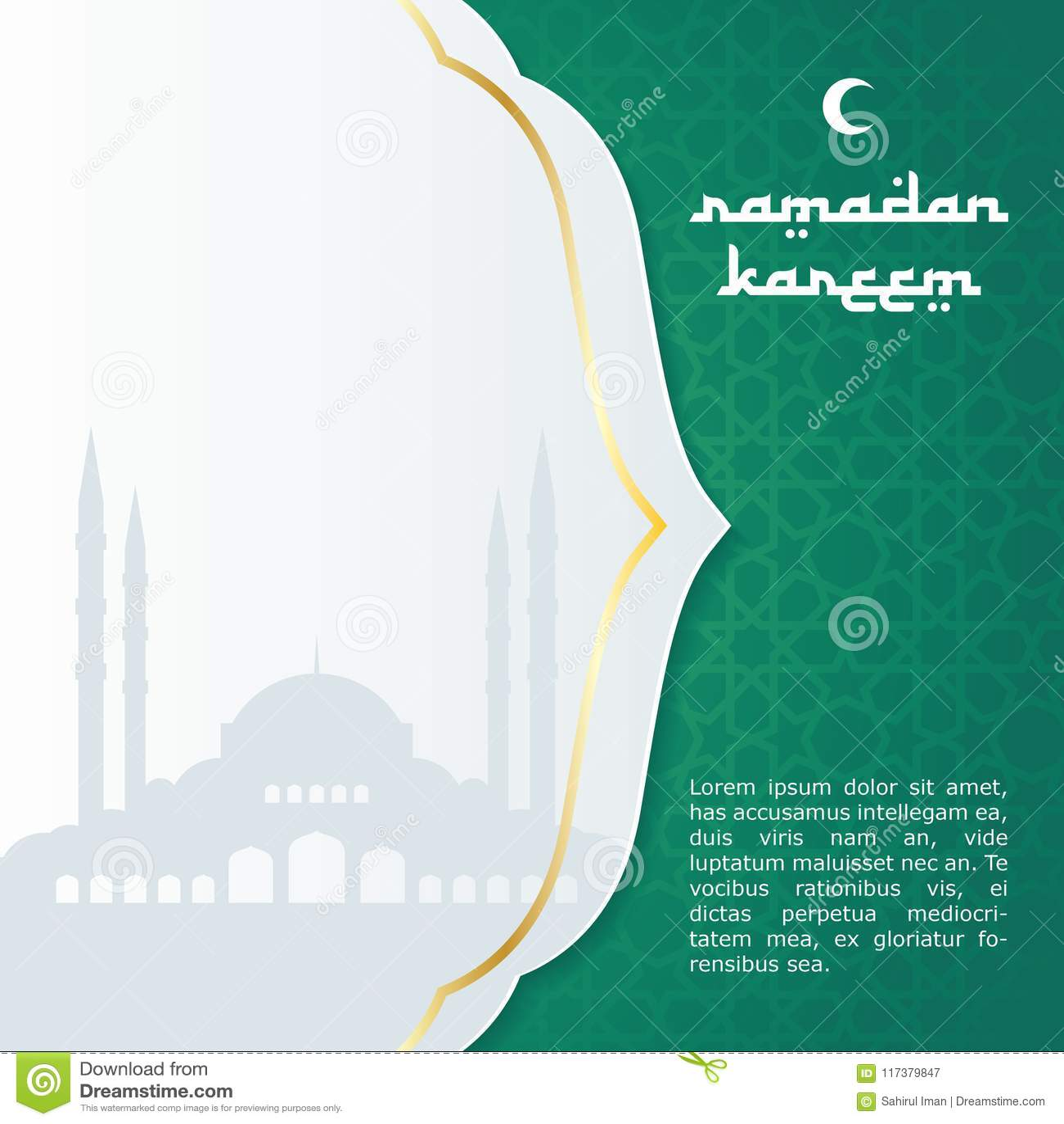 ramadan card  islamic new year  eid fitri card design