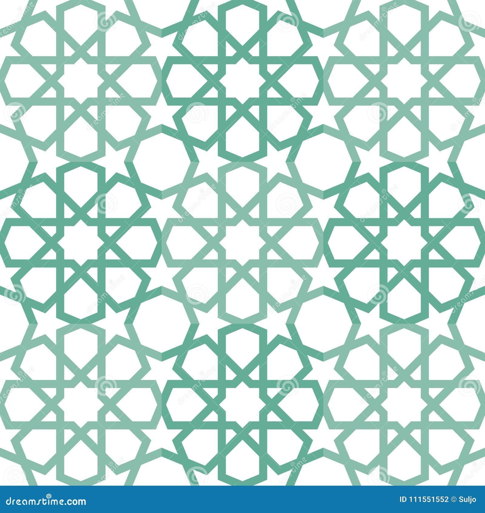 Islamic Tiling Pattern stock vector. Illustration of background ...