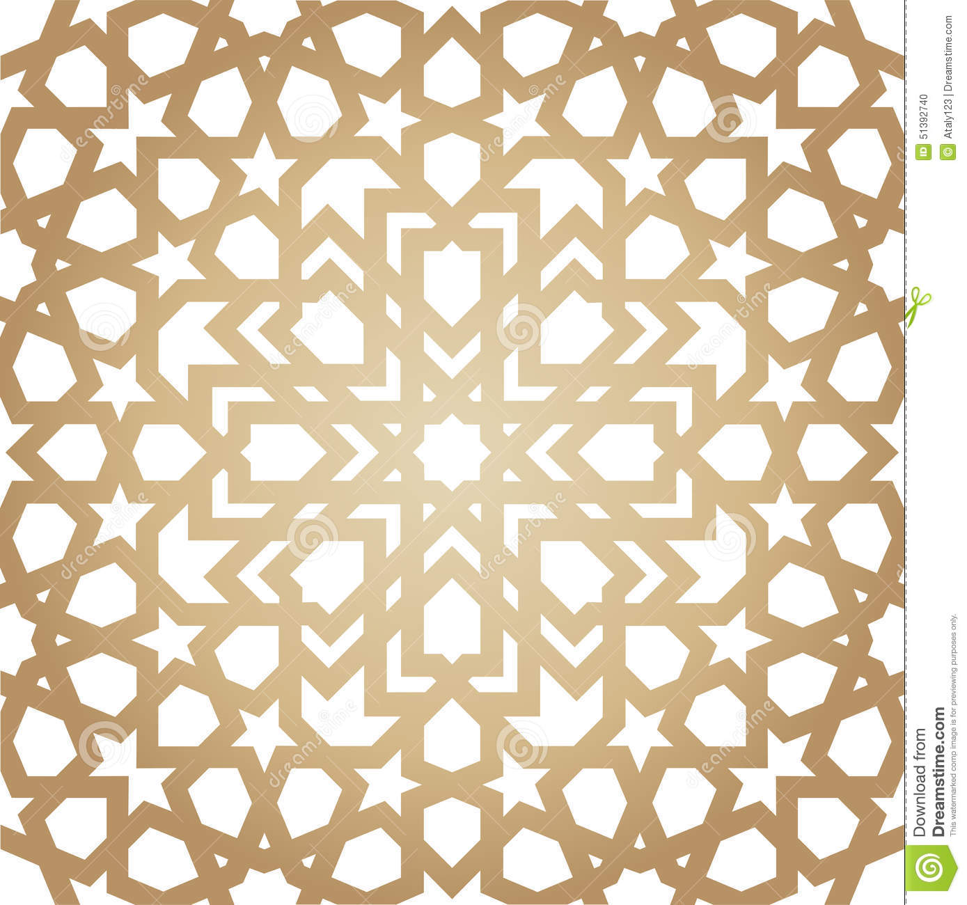 Islamic Traditional Ornament Stock Vector Image 51392740