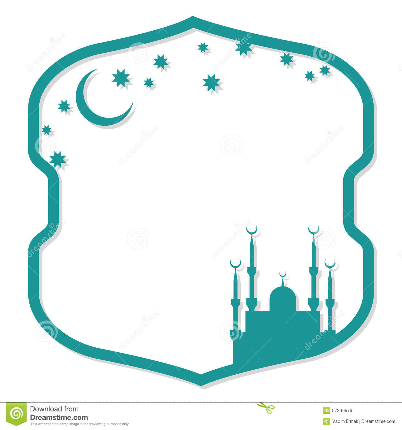 muslim will template - islamic vector frame stock vector image 57246876