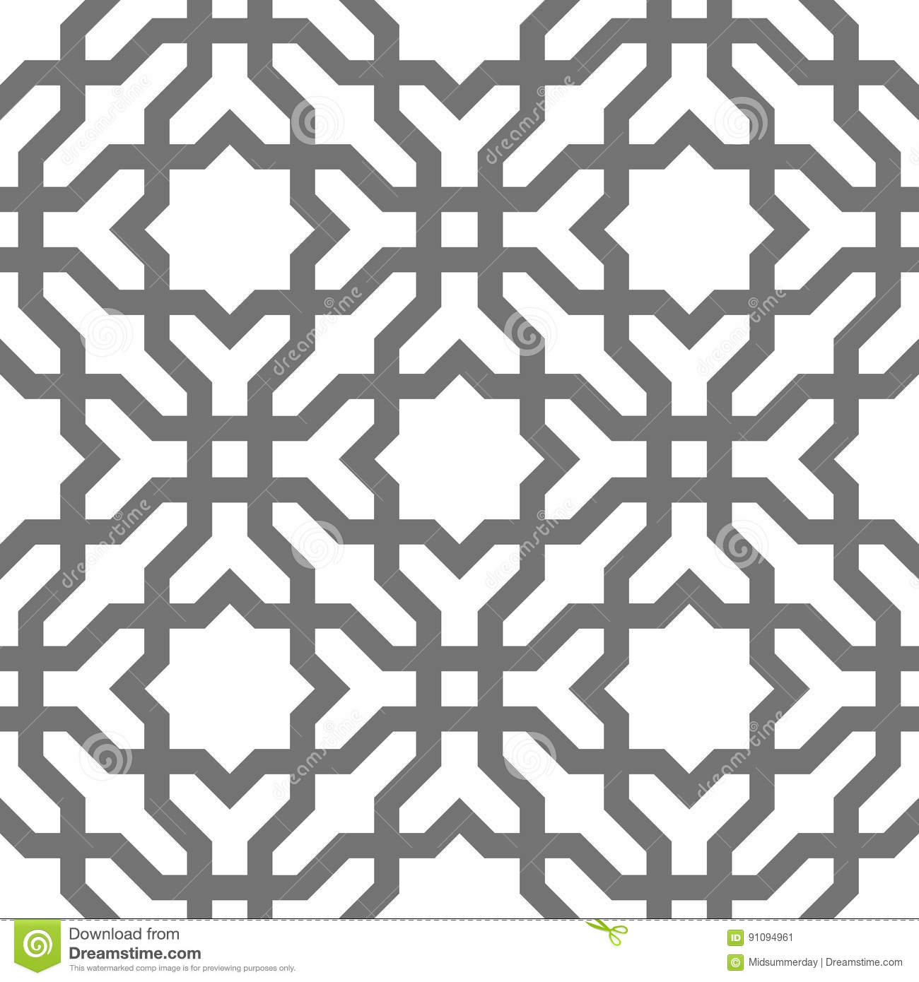 Download Islamic Vector Geometric Ornaments, Traditional Arabic Art. Oriental Seamless Pattern. Turkish, Arabian, Moroccan Tile Stock Vector - Illustration of decor, orient: 91094961